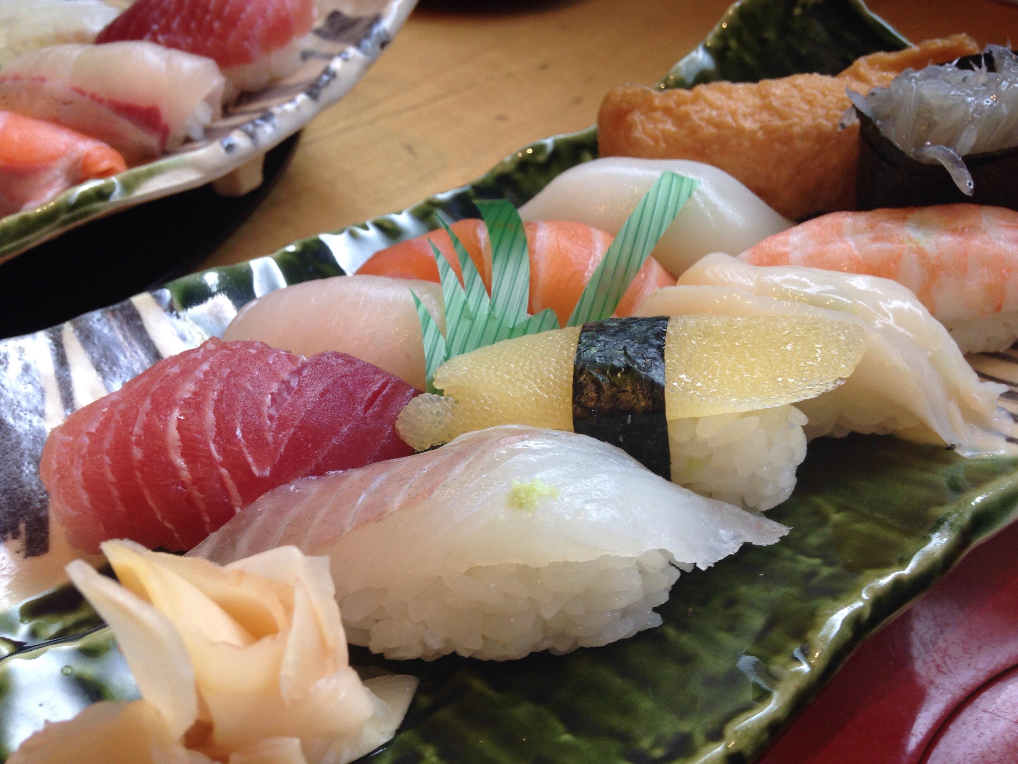 Gambar Makan Makanan Laut Ikan Masakan Makanan Asia Sushi