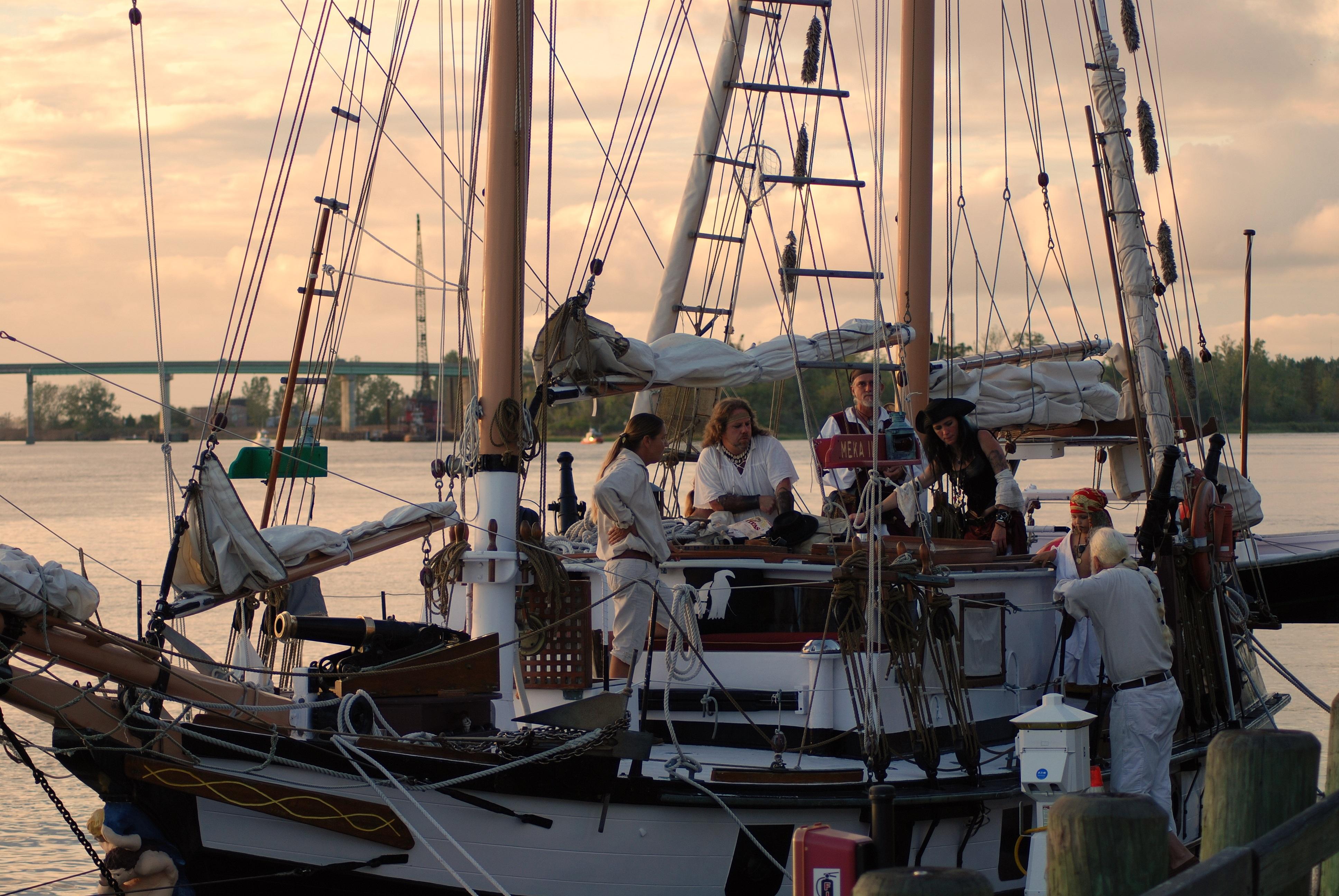 Free Images : dock, boat, dusk, twilight, vehicle, mast, yacht
