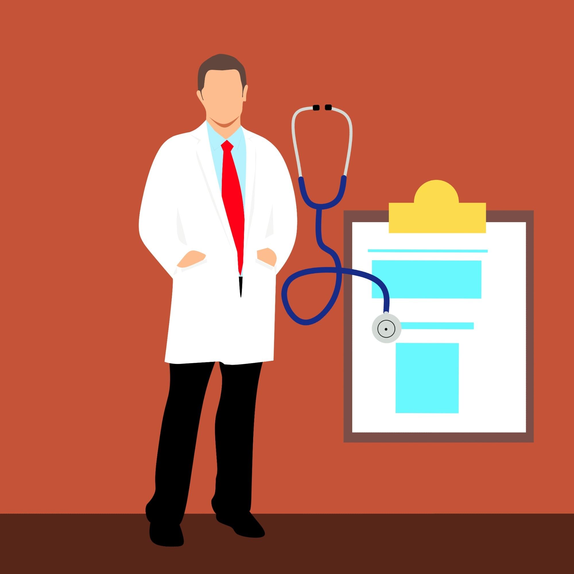 Fotos Gratis Doctor Chequeo Salud Dibujos Animados