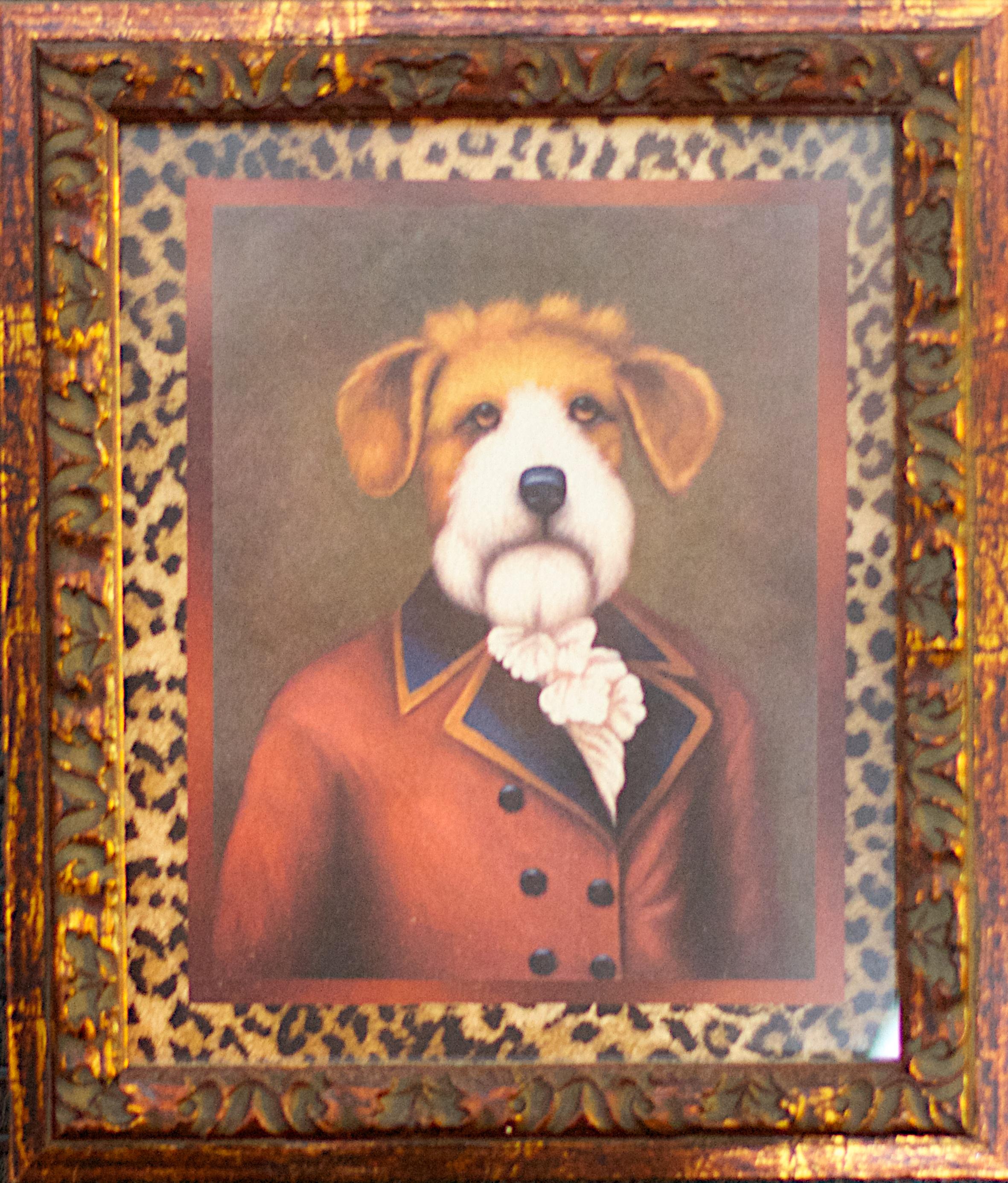 Kostenlose foto : Hund, Malerei, Textil-, Kunst, Bilderrahmen ...