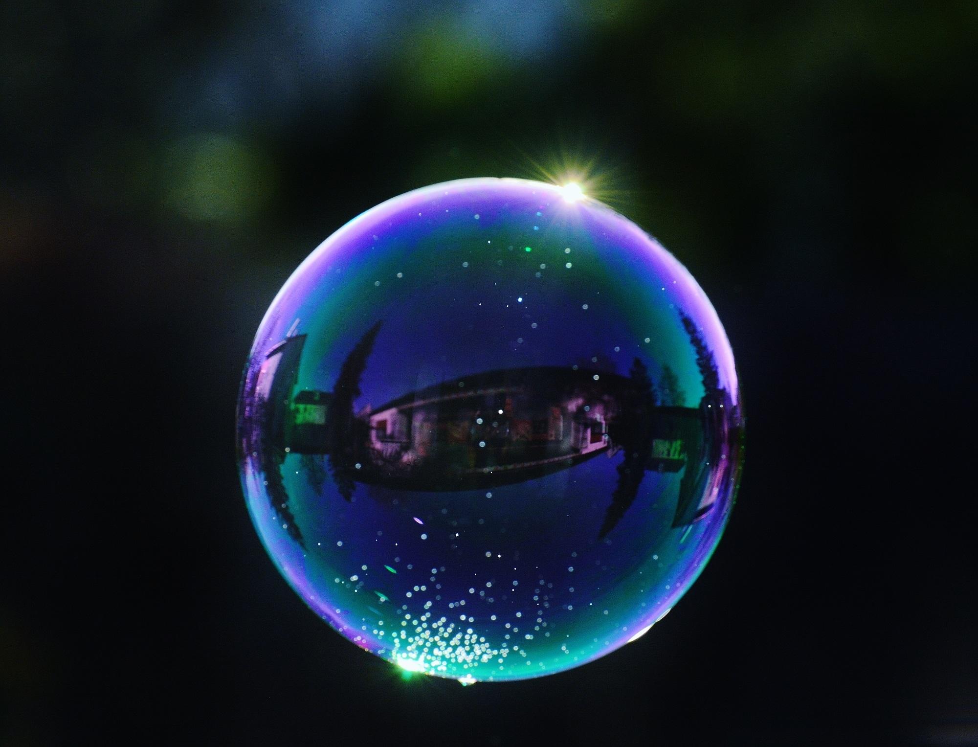 Circle Earth Ball Sphere Balls Soap Bubble Shape Mirroring Screenshot Macro Photography Make Bubbles Soapy Water Computer Wallpaper