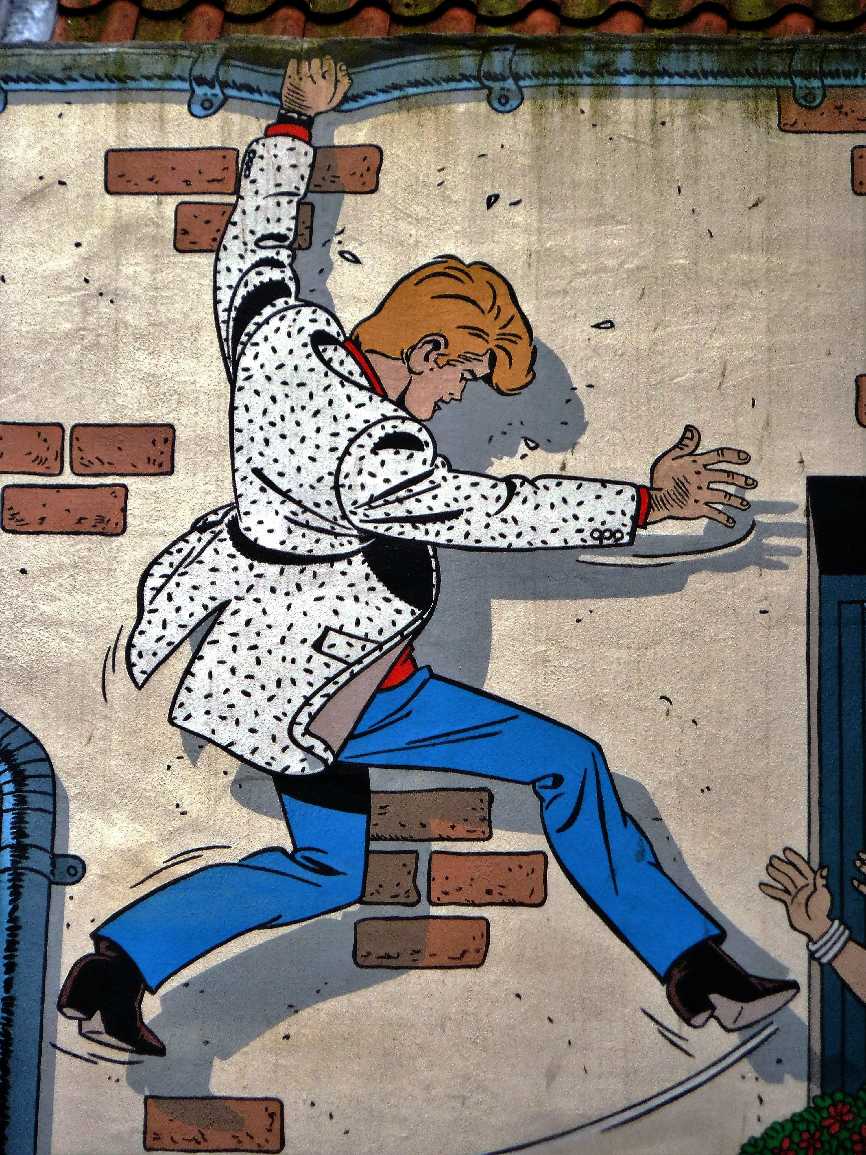 Gambar Jatuh Gerakan Keseimbangan Seni Jalanan Brussels