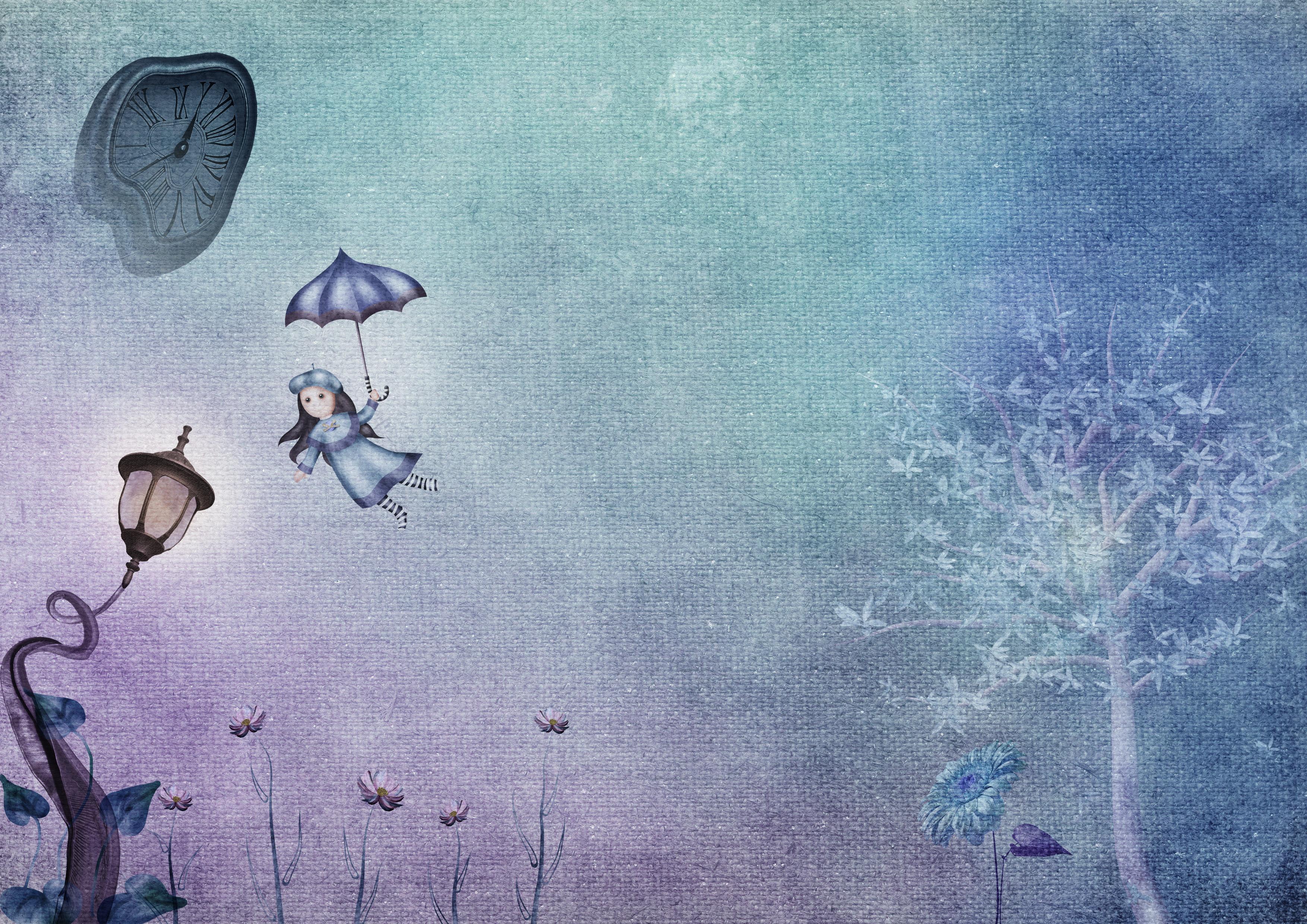 fantasy-clock-tree-lamp-girl-umbrella-li