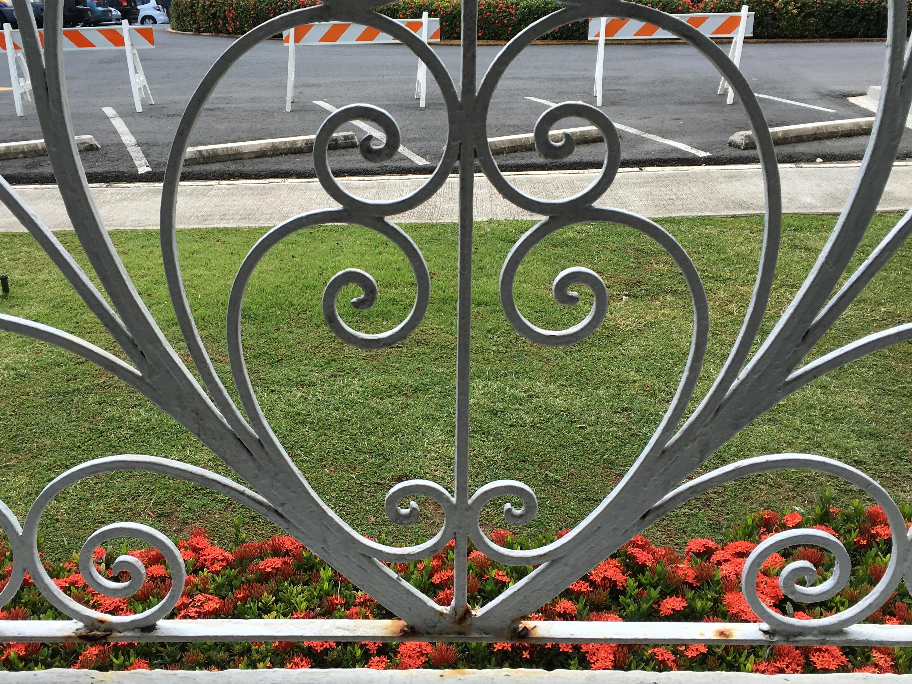 Free Images : fence, lawn, wheel, flower, window, metal, gate, art ...