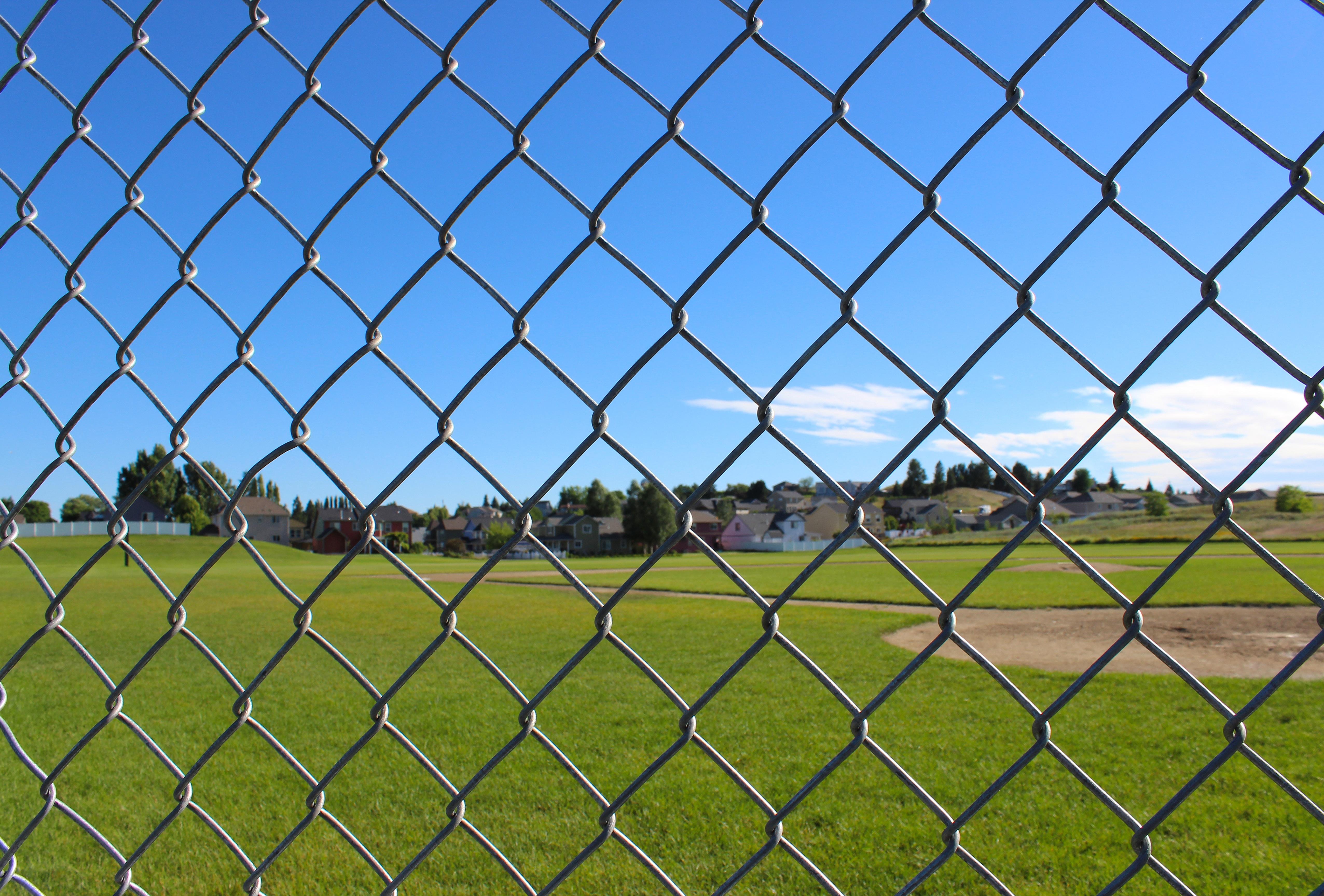 Free Images Fence Line Stadium Baseball Field Net