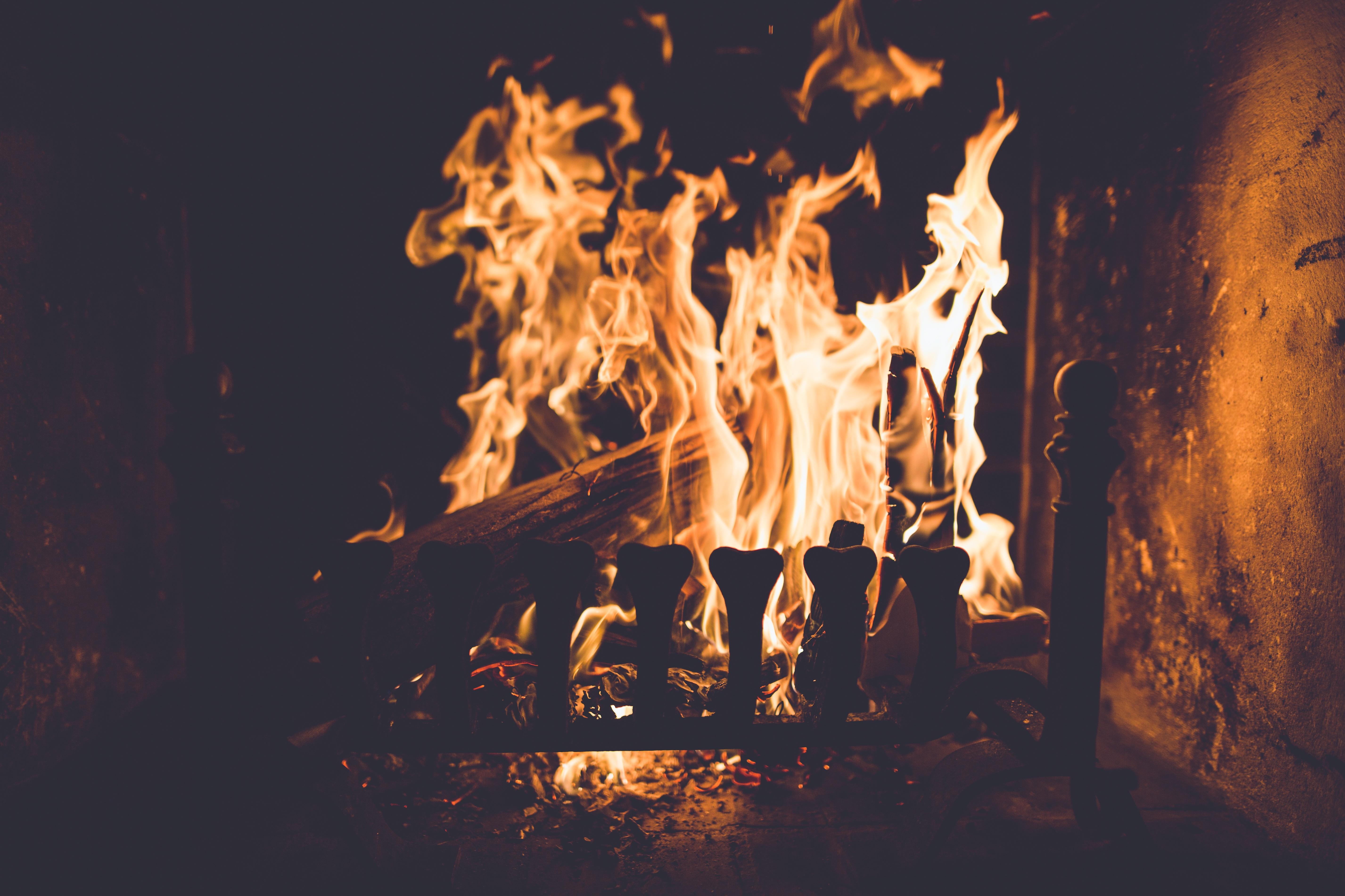 костер огонь пламя загрузить
