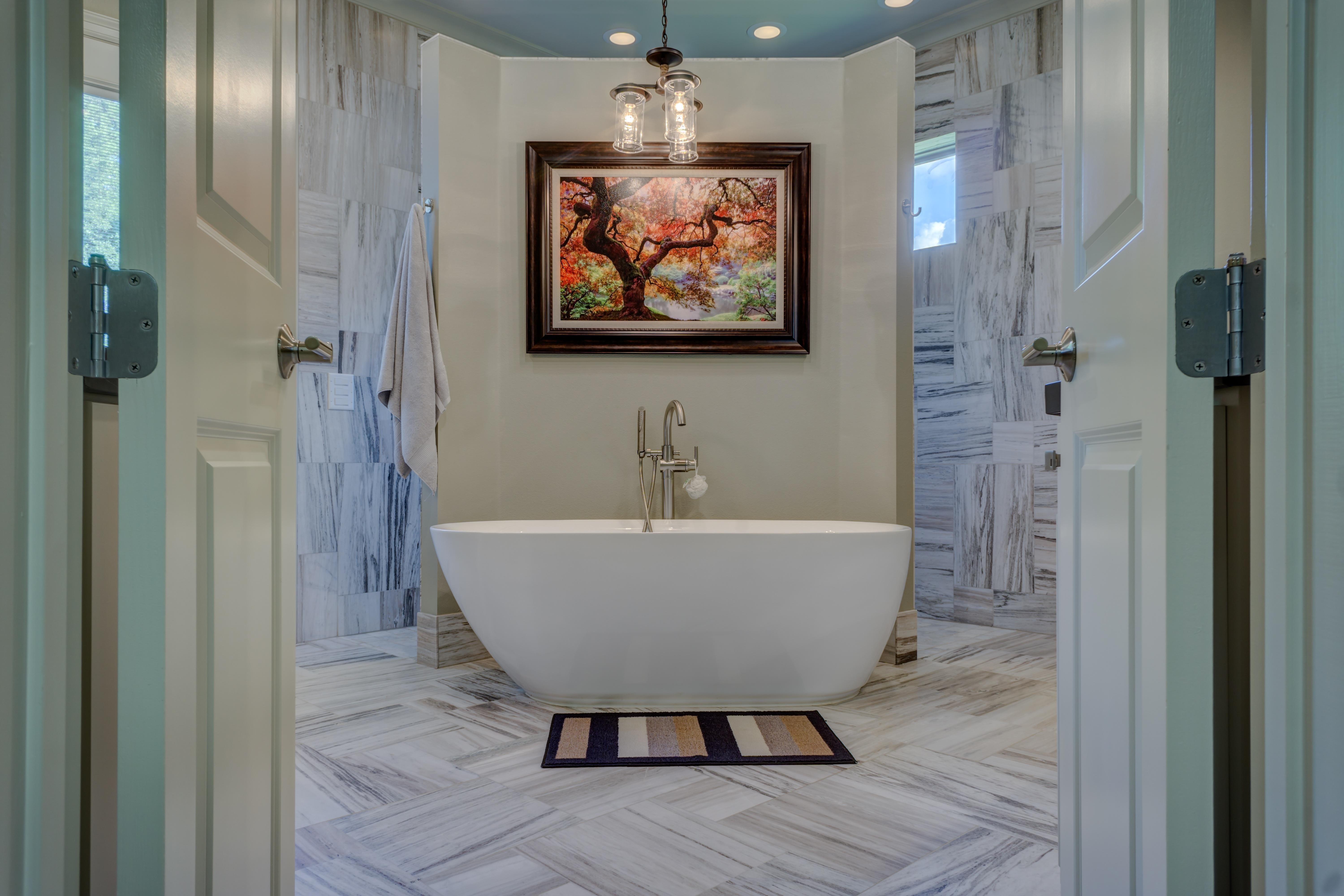 Gratis billeder : etage, hjem, ejendom, værelse, Indretning, badekar ...