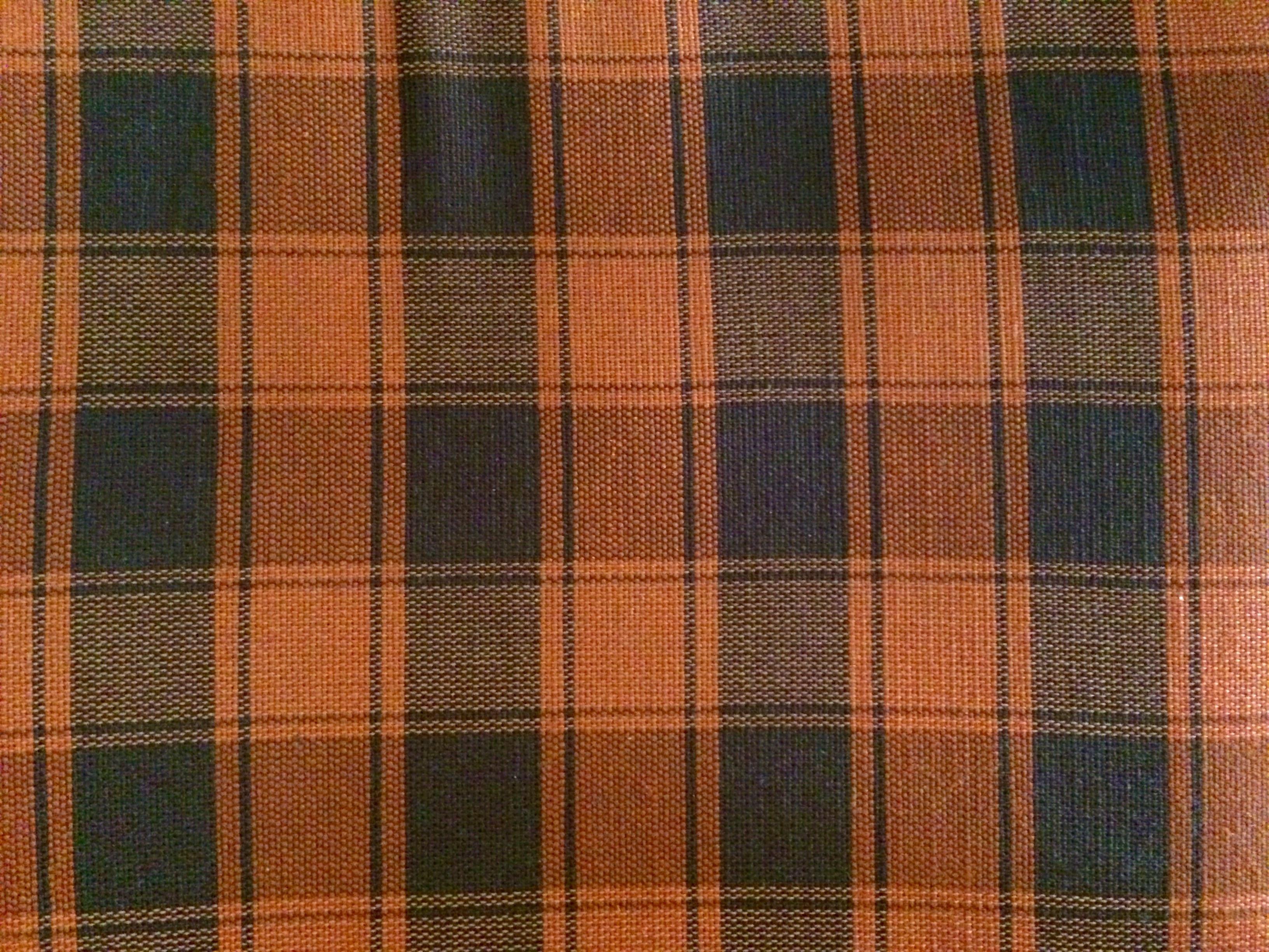 Floor Orange Pattern Brown Plaid Material Fabric Interior Design Textile  Art Design Flooring Tartan