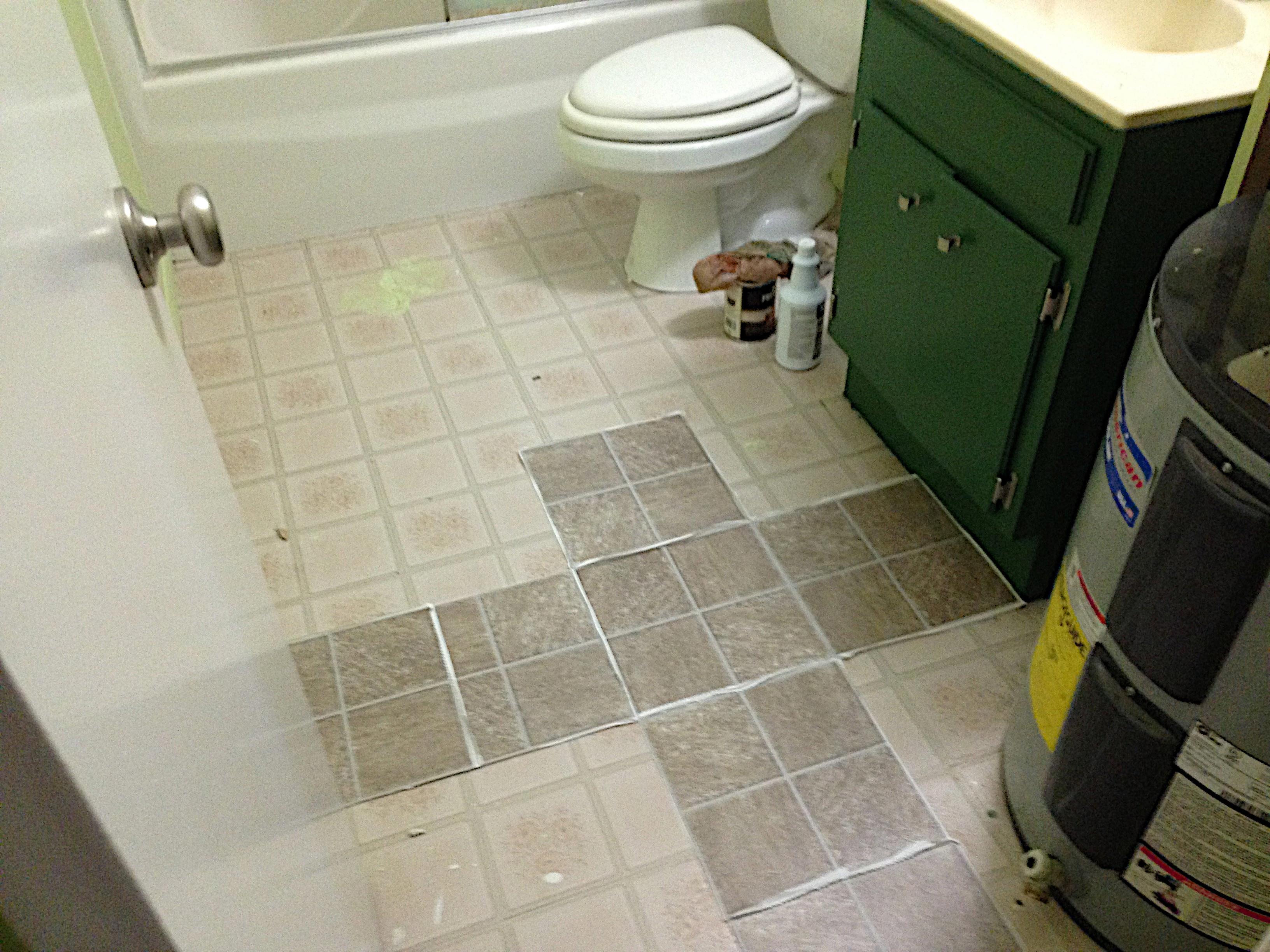 Innenarchitektur mooi trend zwart wit tegels leuke diy badkamer