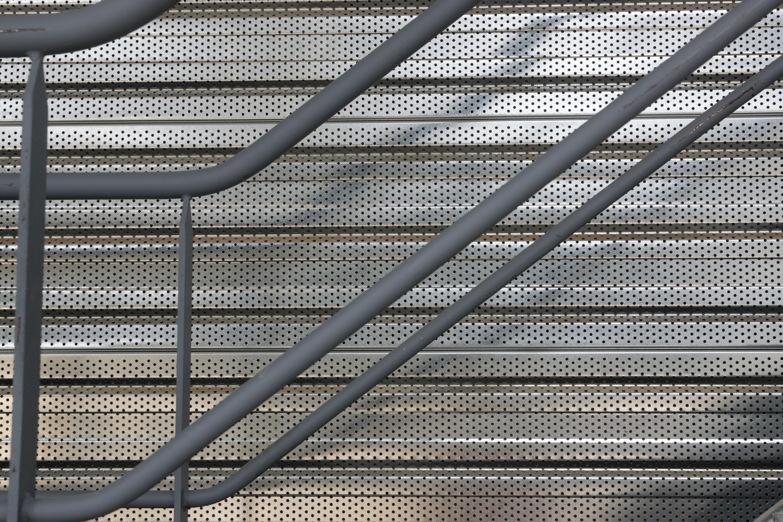 Free Images : floor, roof, wall, staircase, asphalt, steel, line ...