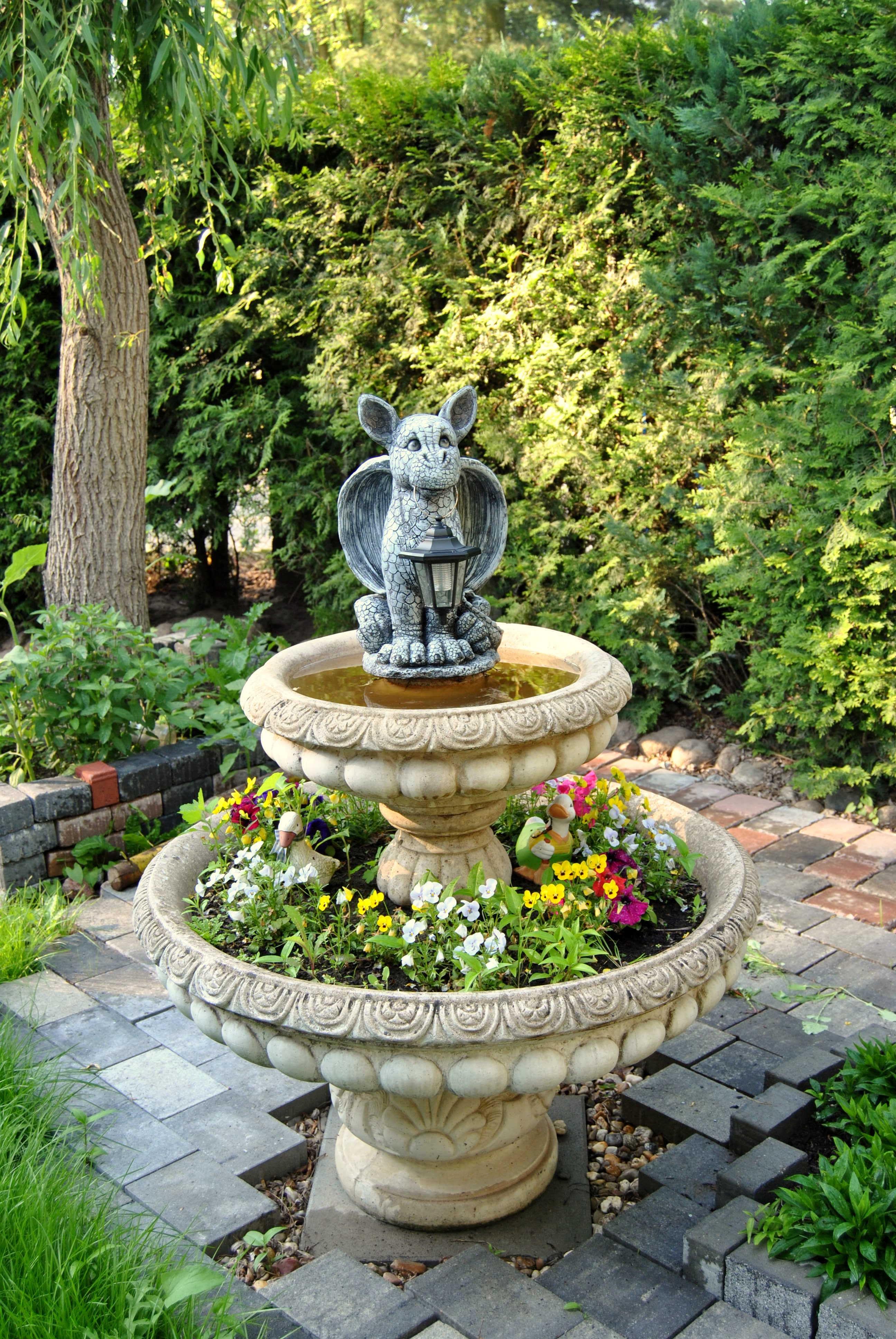 Beautiful Flower Backyard Botany Garden Deco Sculpture Fountain Yard Water Feature