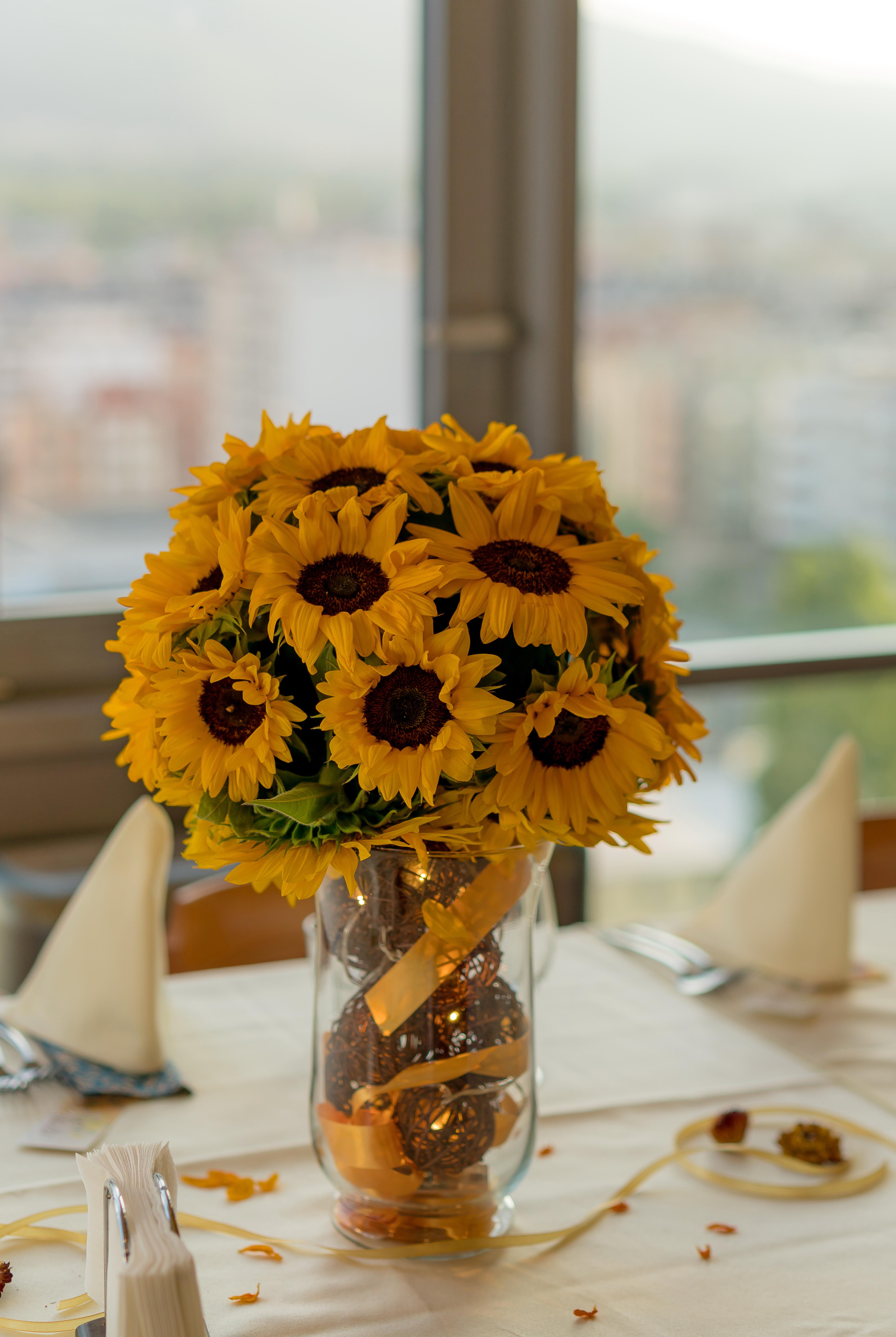 Gambar Boquet Pedalaman Bunga Matahari Bunga Potong