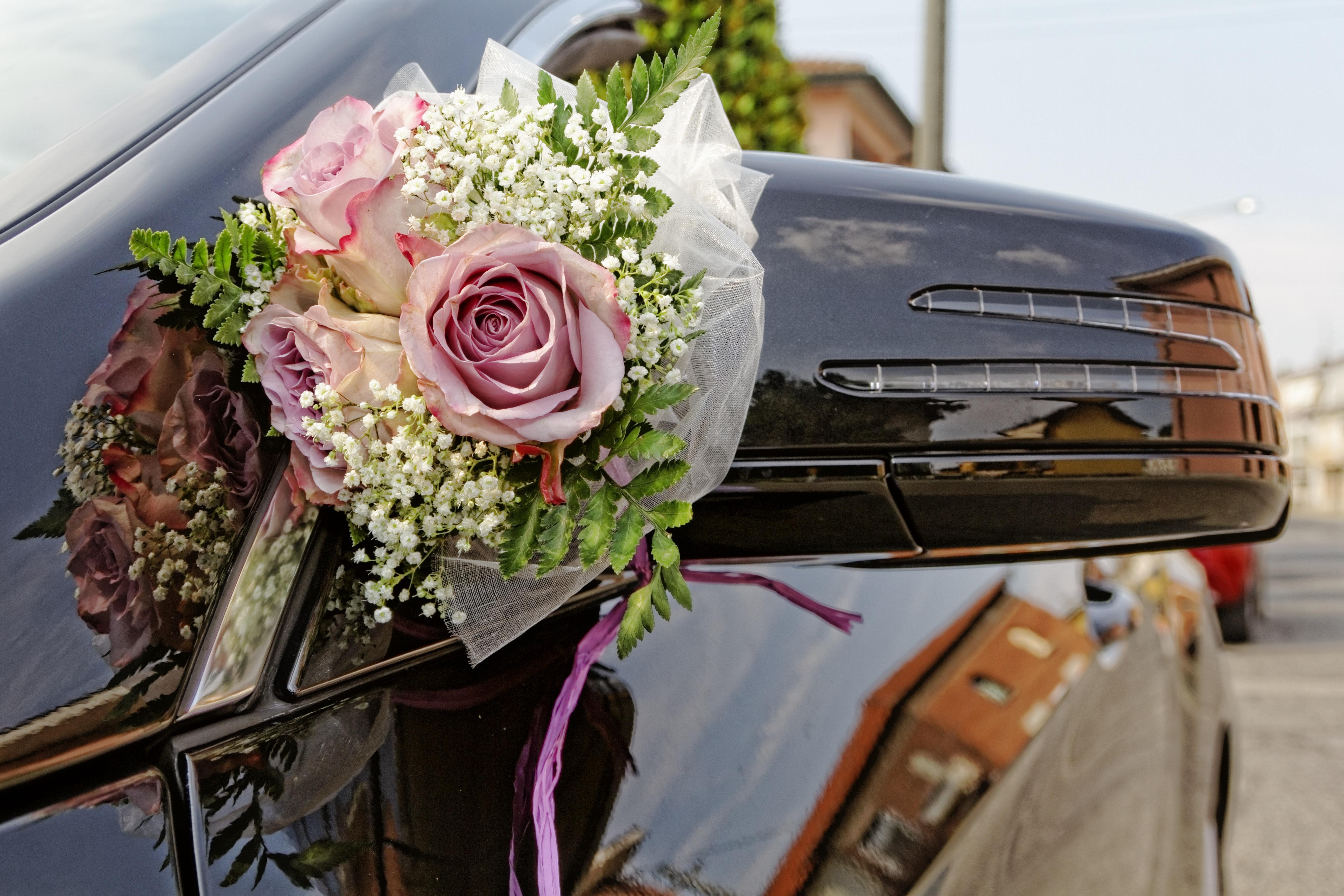 Free Images Rose Decoration Romance Auto Bride Marriage
