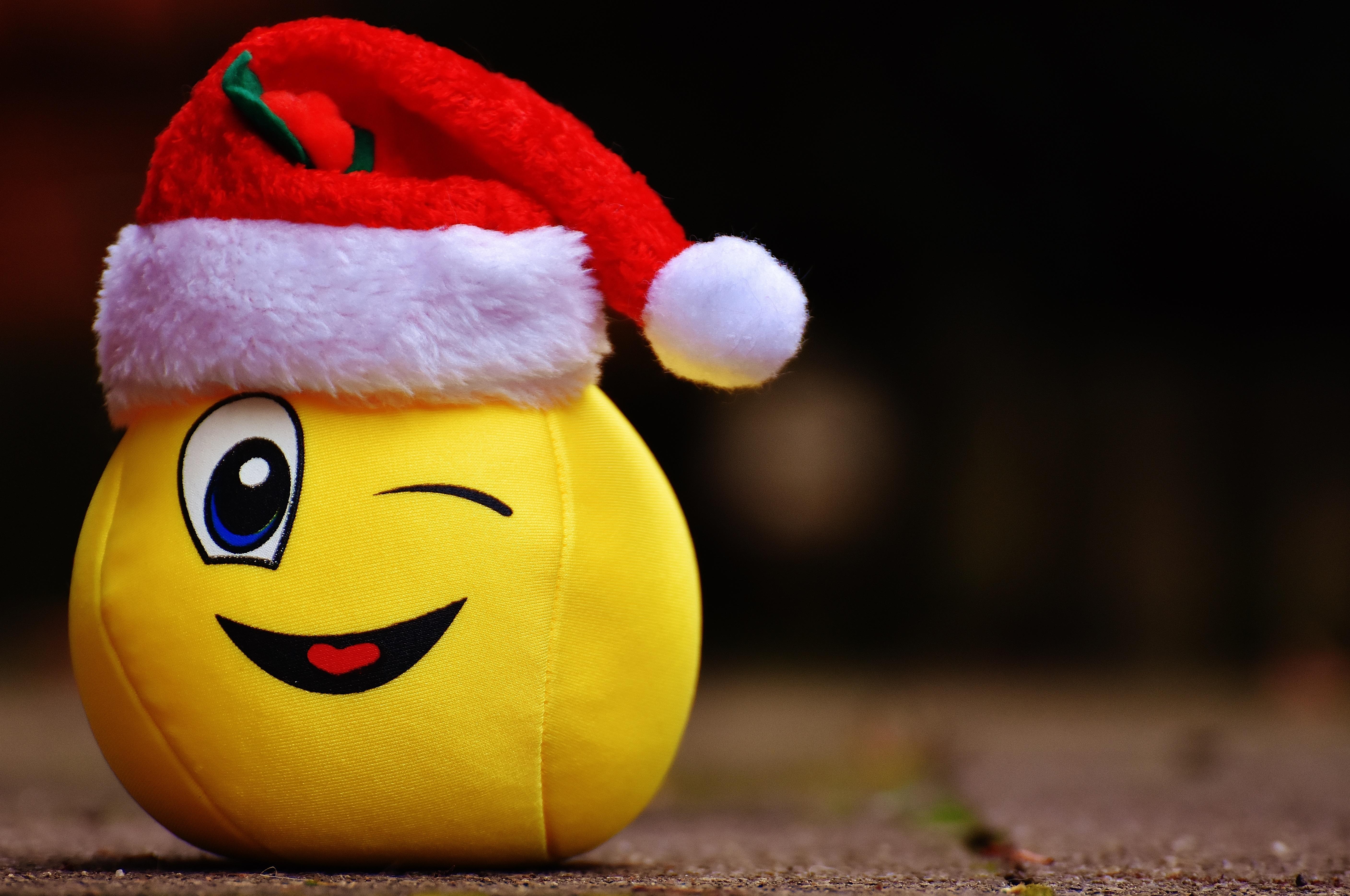 Gambar Bunga Hari Natal Mainan Tertawa Hat Santa Lucu