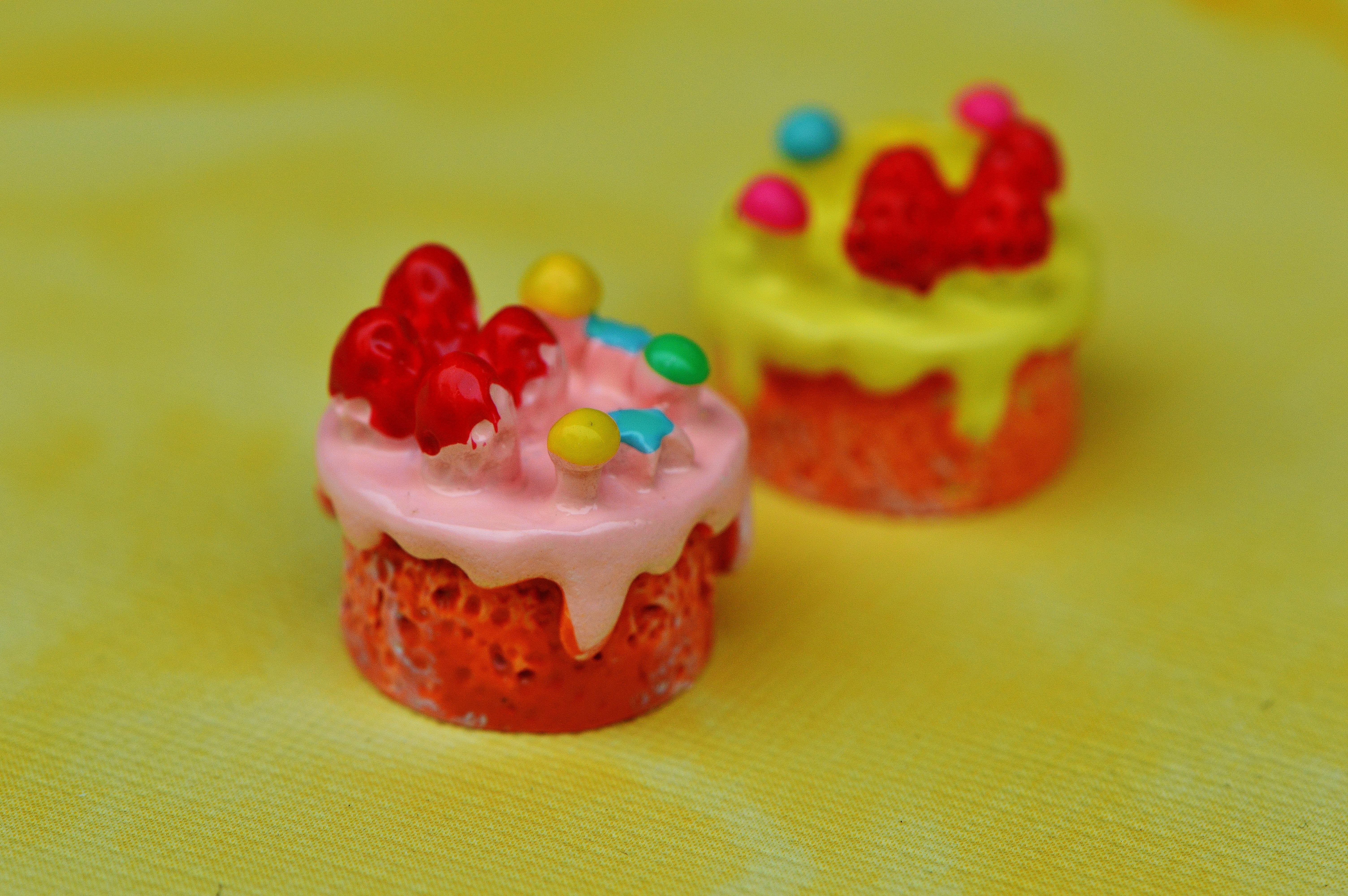 flor decoracin comida rojo produce cermico magdalena postre juguete pastel deco miniatura formacin de hielo gracioso