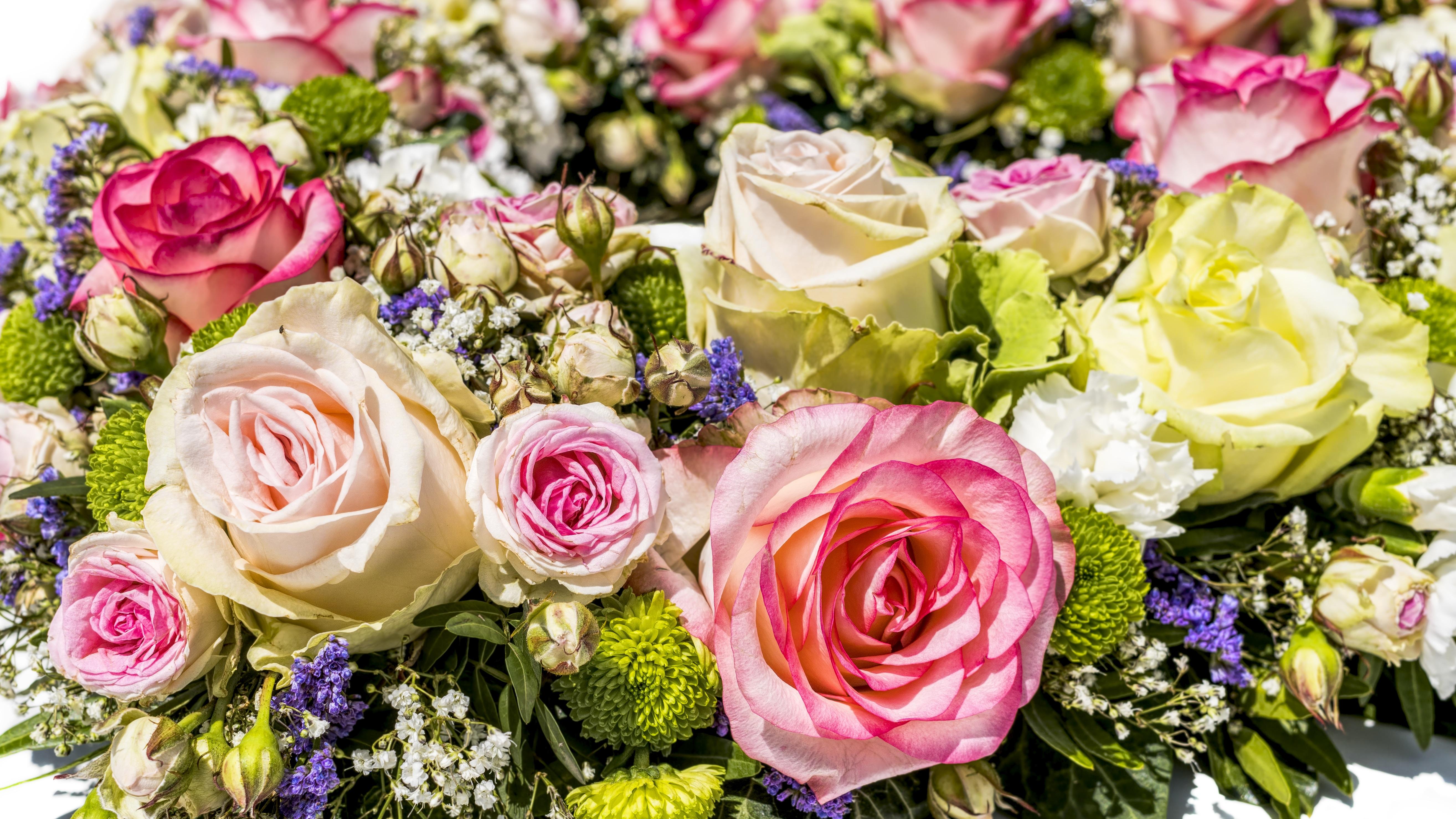 Flower Arranging Bouquet Floristry Pink Rose Cut Flowers Yellow Family Floral Design Flowering