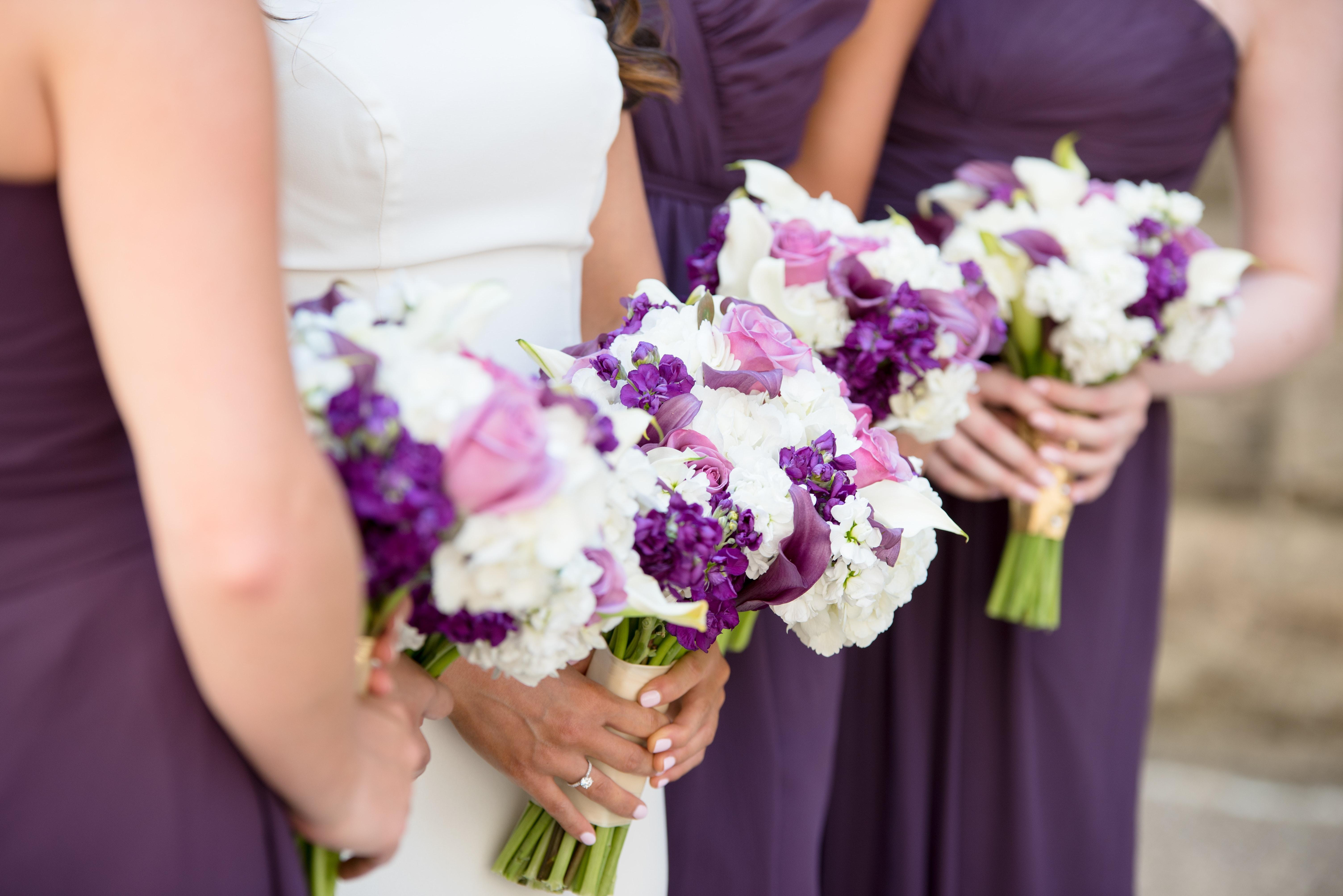 d58c42bf4f71 blomma blombukett blomsterarrangemang fotografera lila brud blomster  lavendel- violett lila tärna bröllop klänning snittblommor blommönster