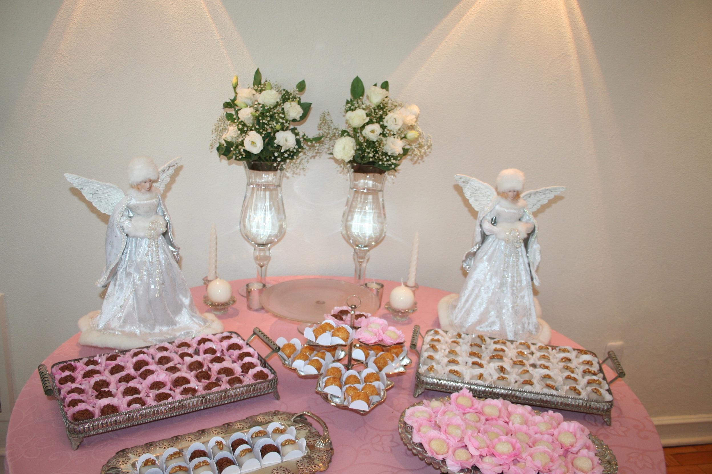 flor comida rosado ngeles pastel de boda mesa dulce decoracin de pasteles habitacin central chica de