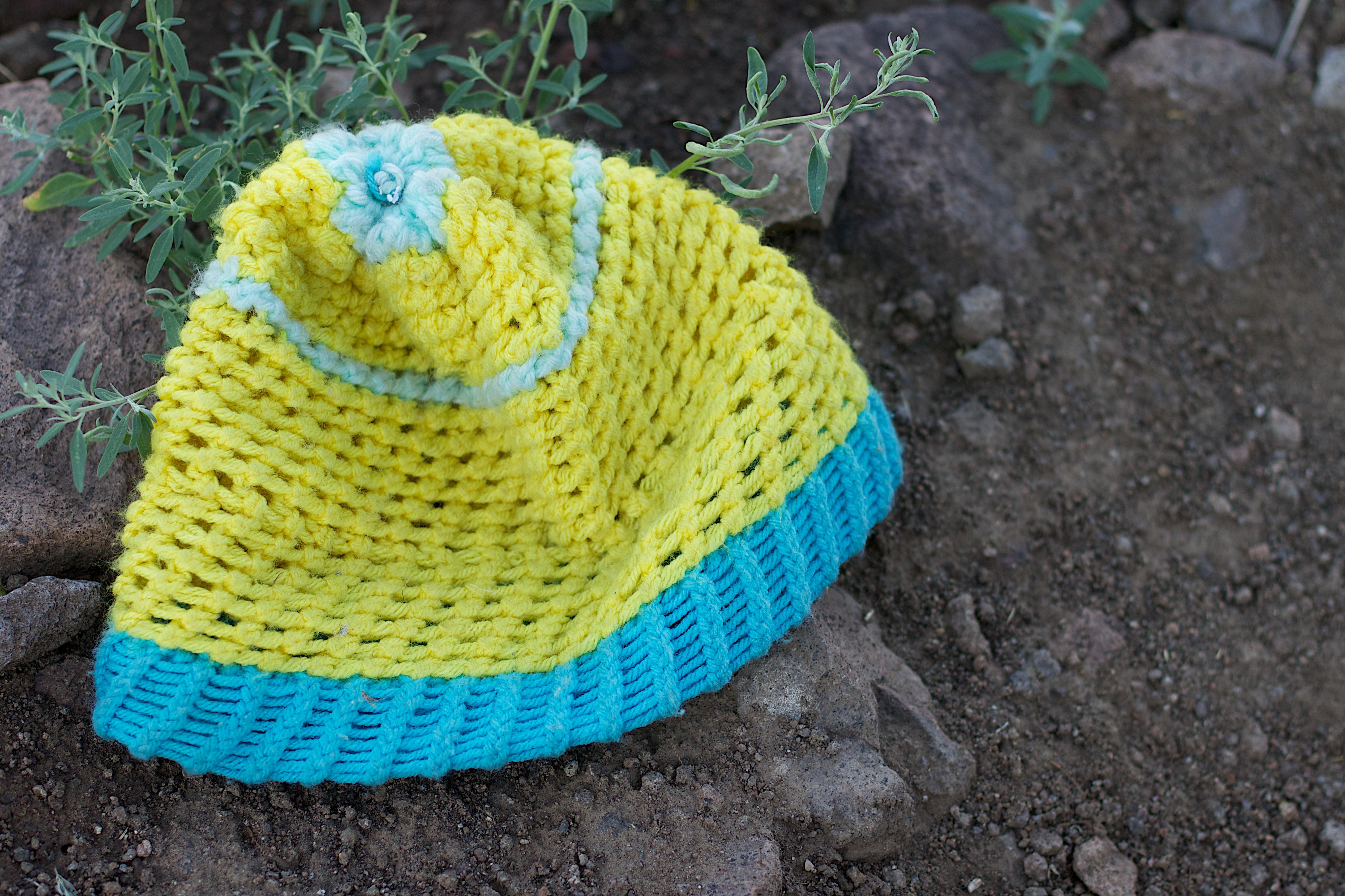 Kostenlose foto : Blume, Hut, Kleidung, Gelb, Landwirtschaft, häkeln ...