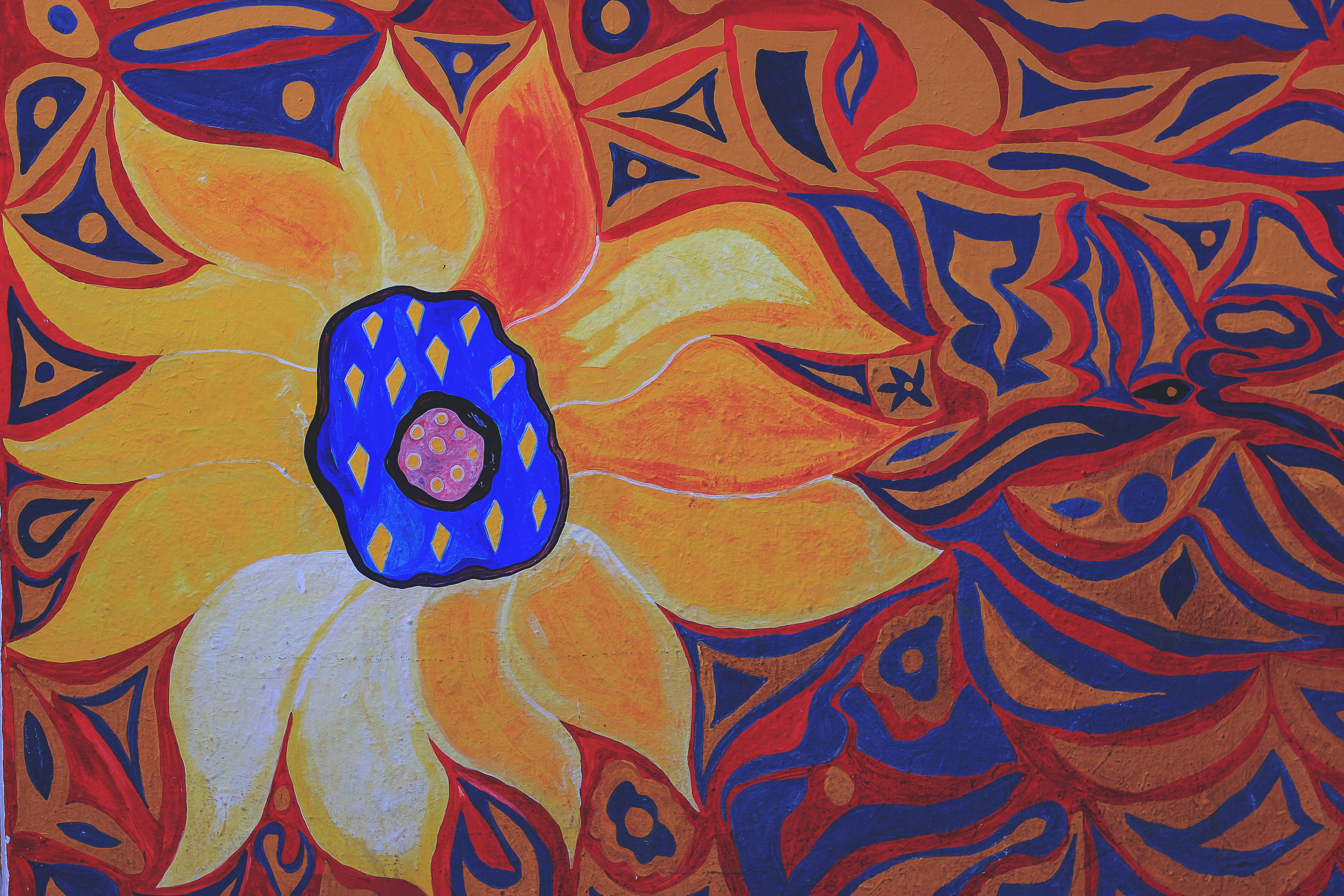 Images Gratuites Fleur Modèle Cercle La Peinture Dessin
