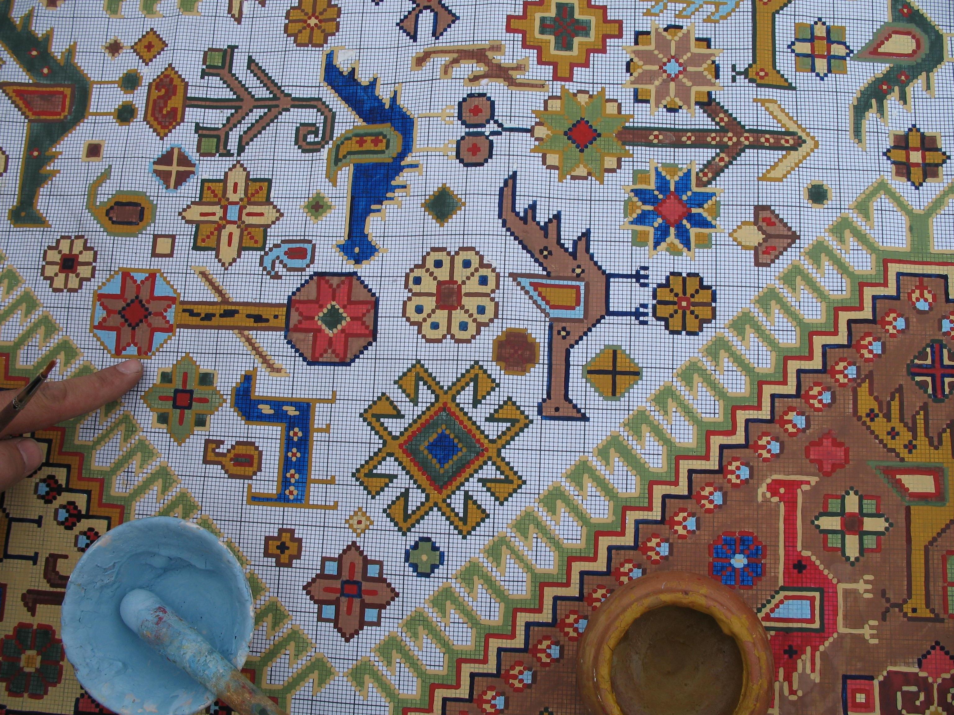 Quilt Block Patterns In Public Domain : Free Images : flower, pattern, color, material, circle, artwork, painting, quilt, textile, art ...