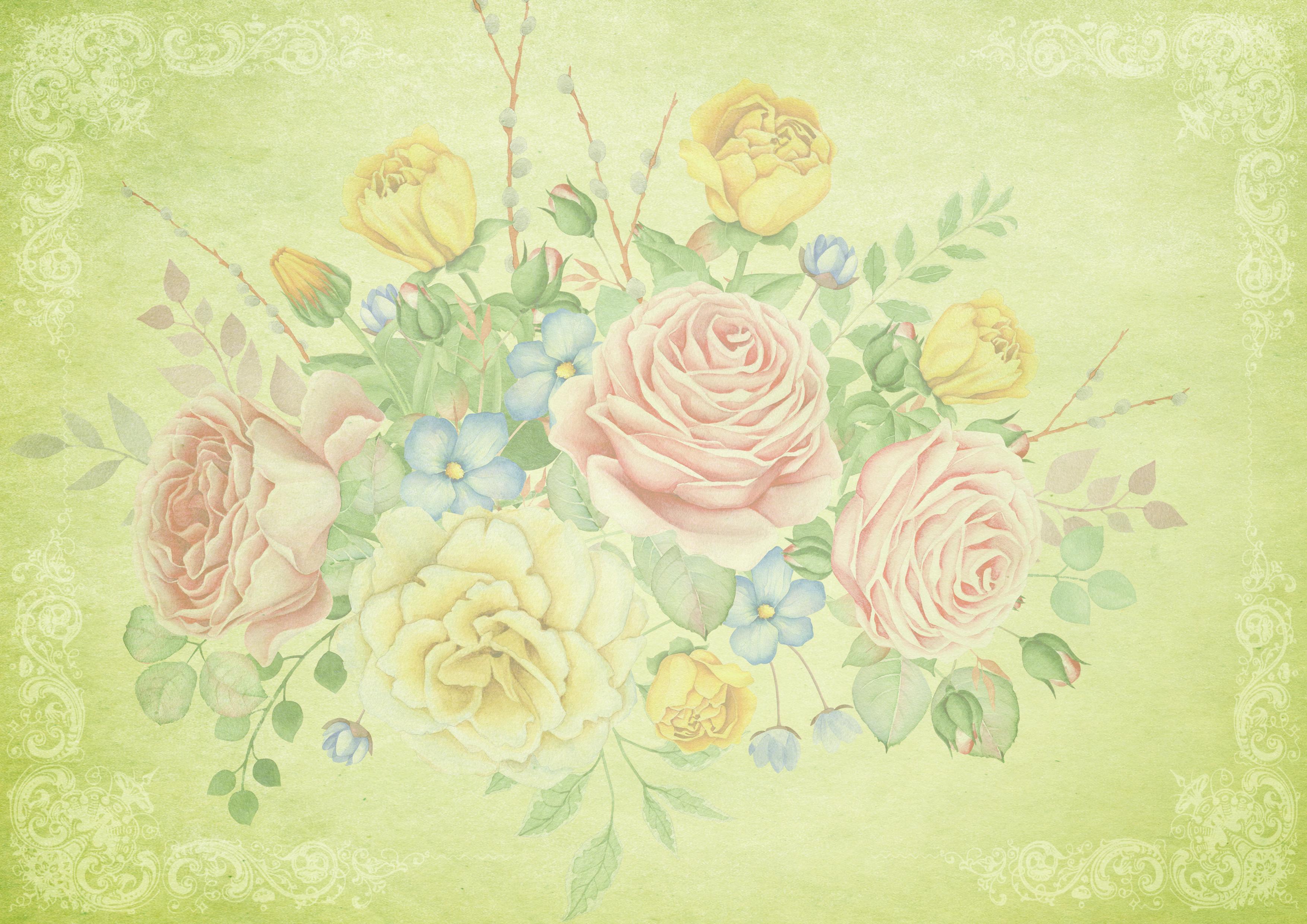 Immagini Belle Un Mazzo Di Fiori Rose Ornamenti Decorativo