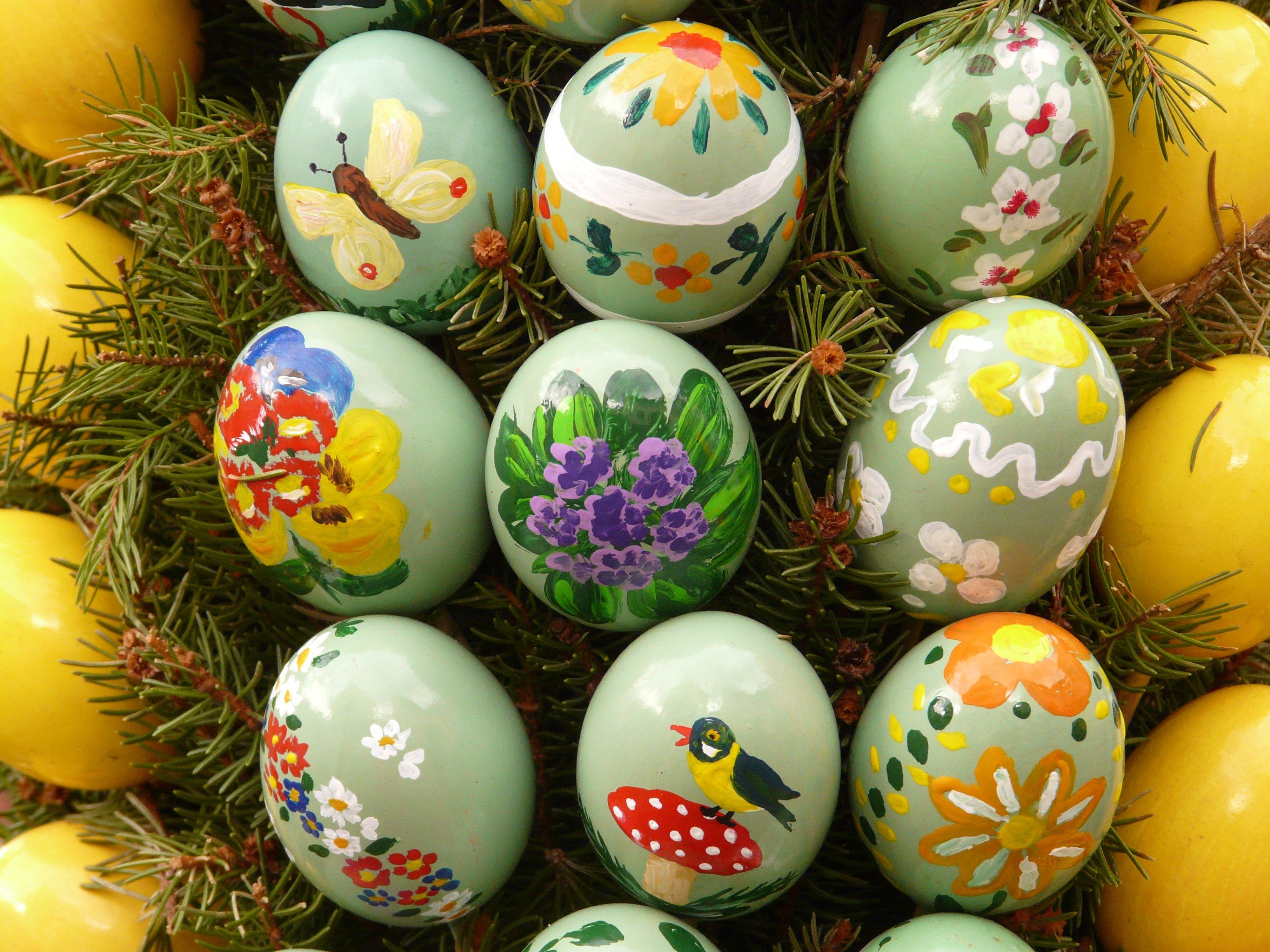 Fotoğraf Gıda Renk Tatil Boya Renkli Yumurta Boyama Yılbaşı