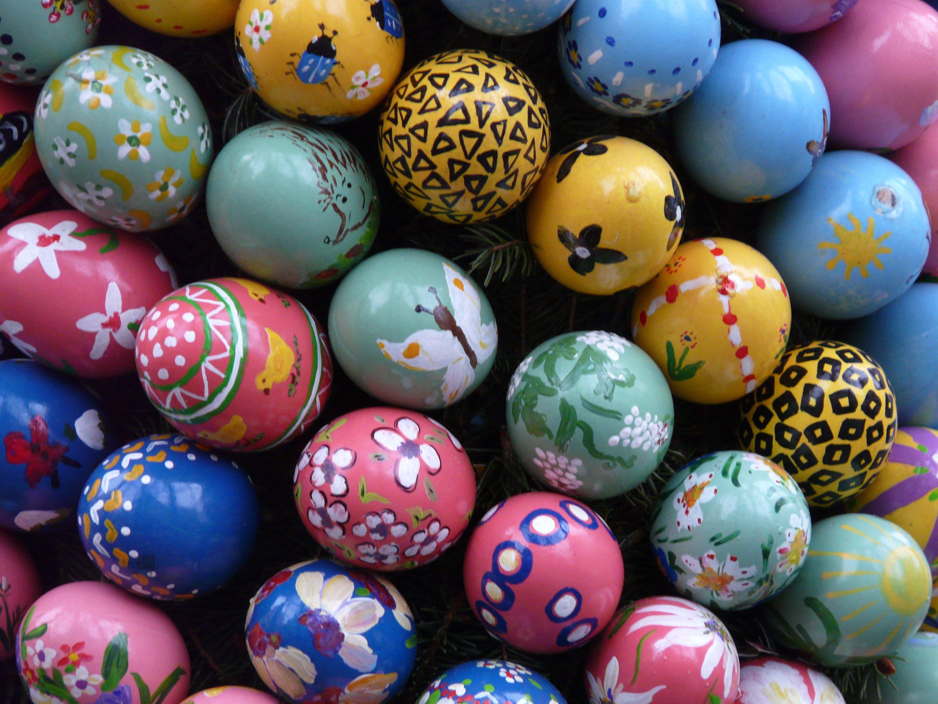Fotoğraf Gıda Renk Boya Mavi Renkli Yumurta Boyama Top