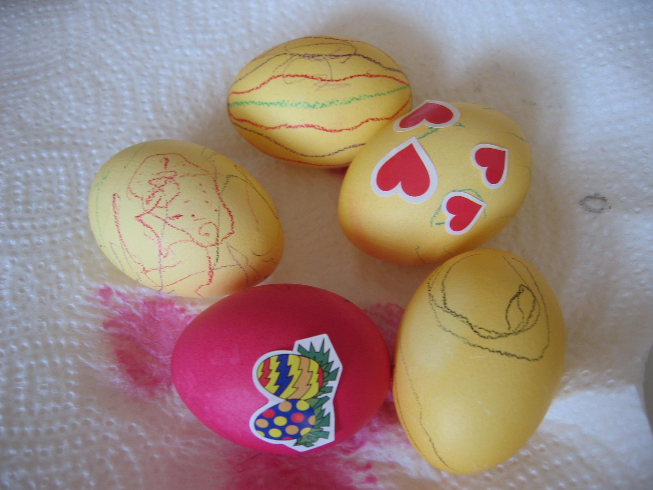 Fotoğraf Gıda Renk Boya Yumurta Boyama Boyalı Renkli