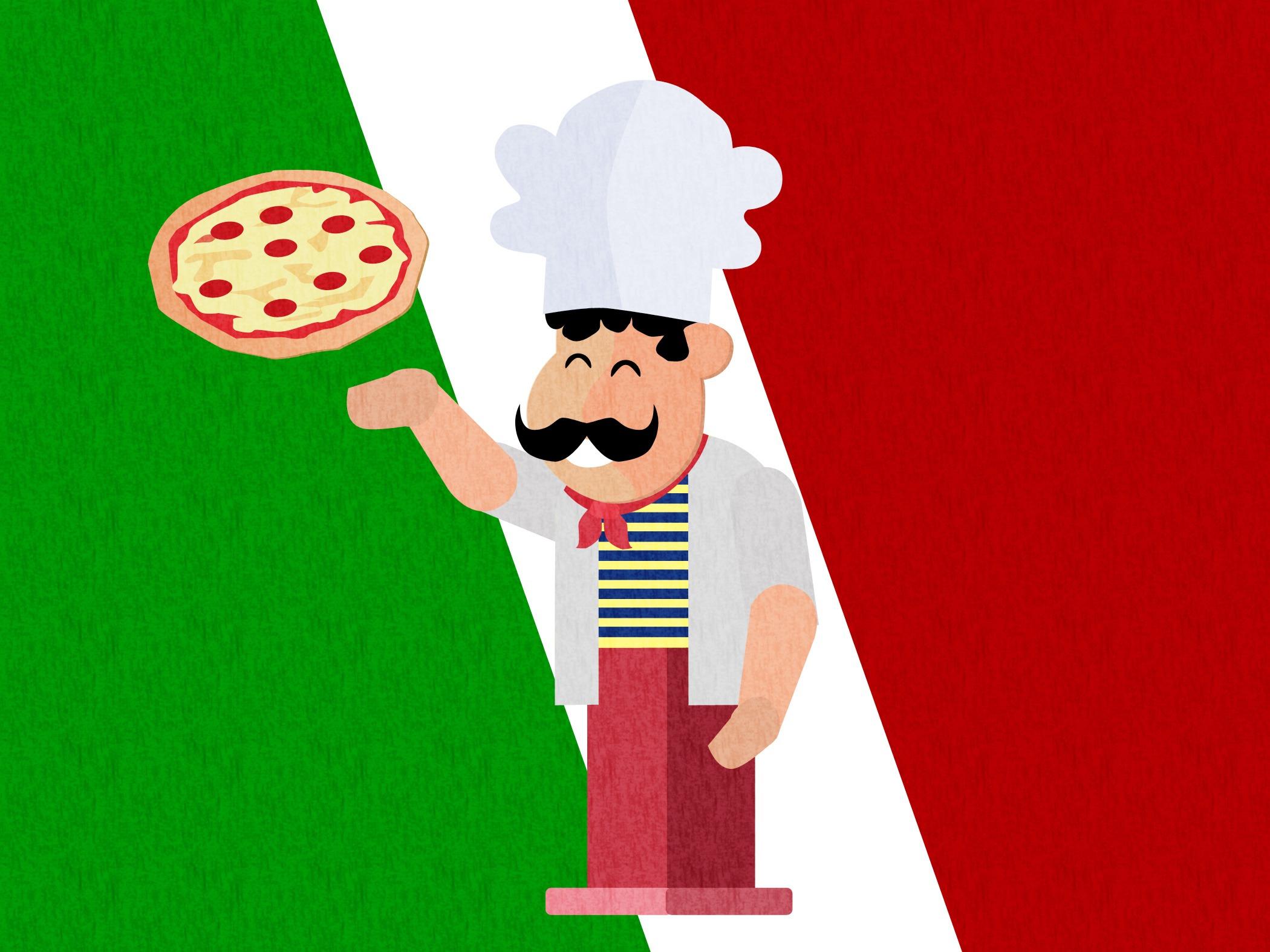 Gambar Makanan Pizza Merek Ilustrasi Sinterklas Italia