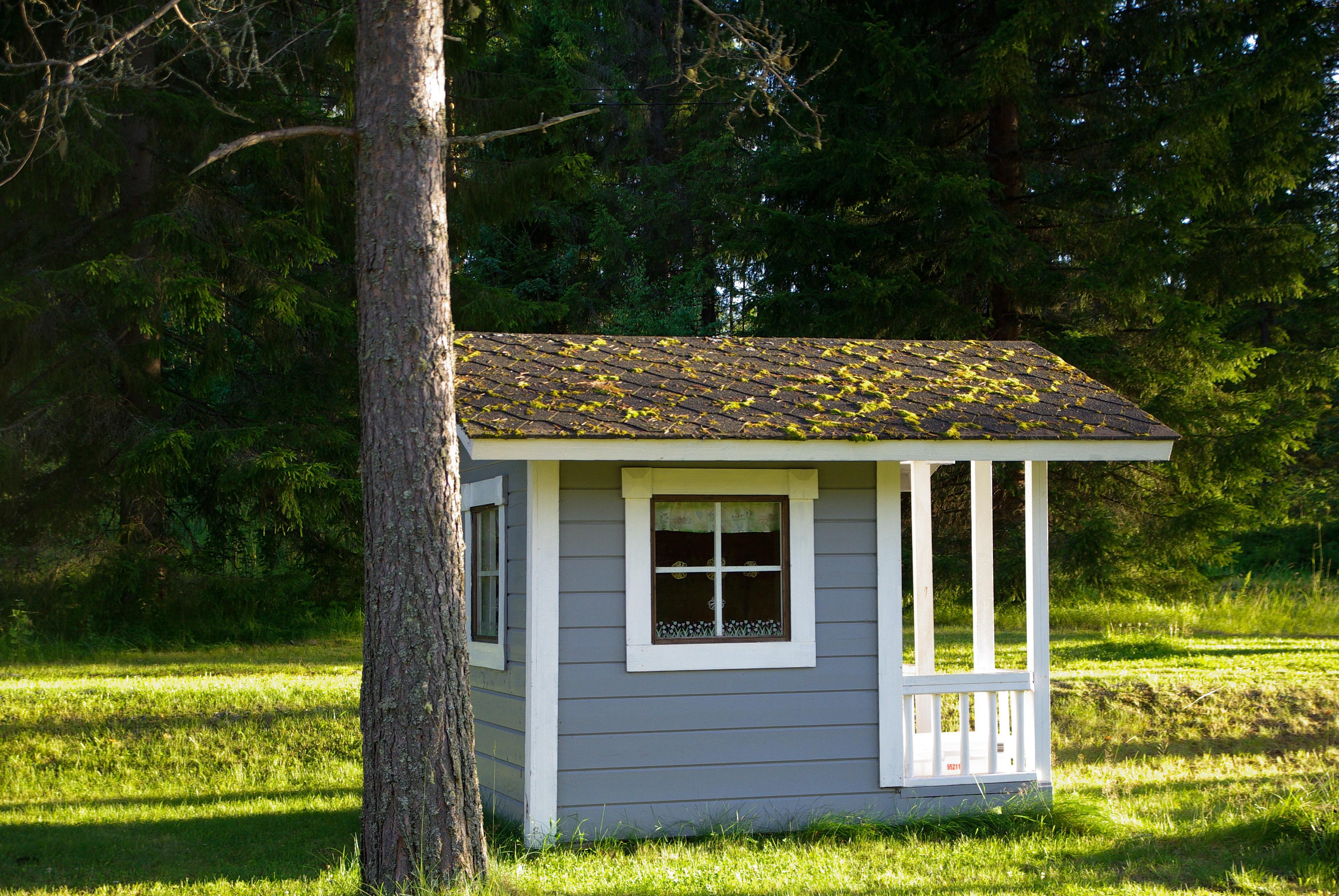 Fotos gratis : bosque, edificio, cobertizo, choza, patio interior ...