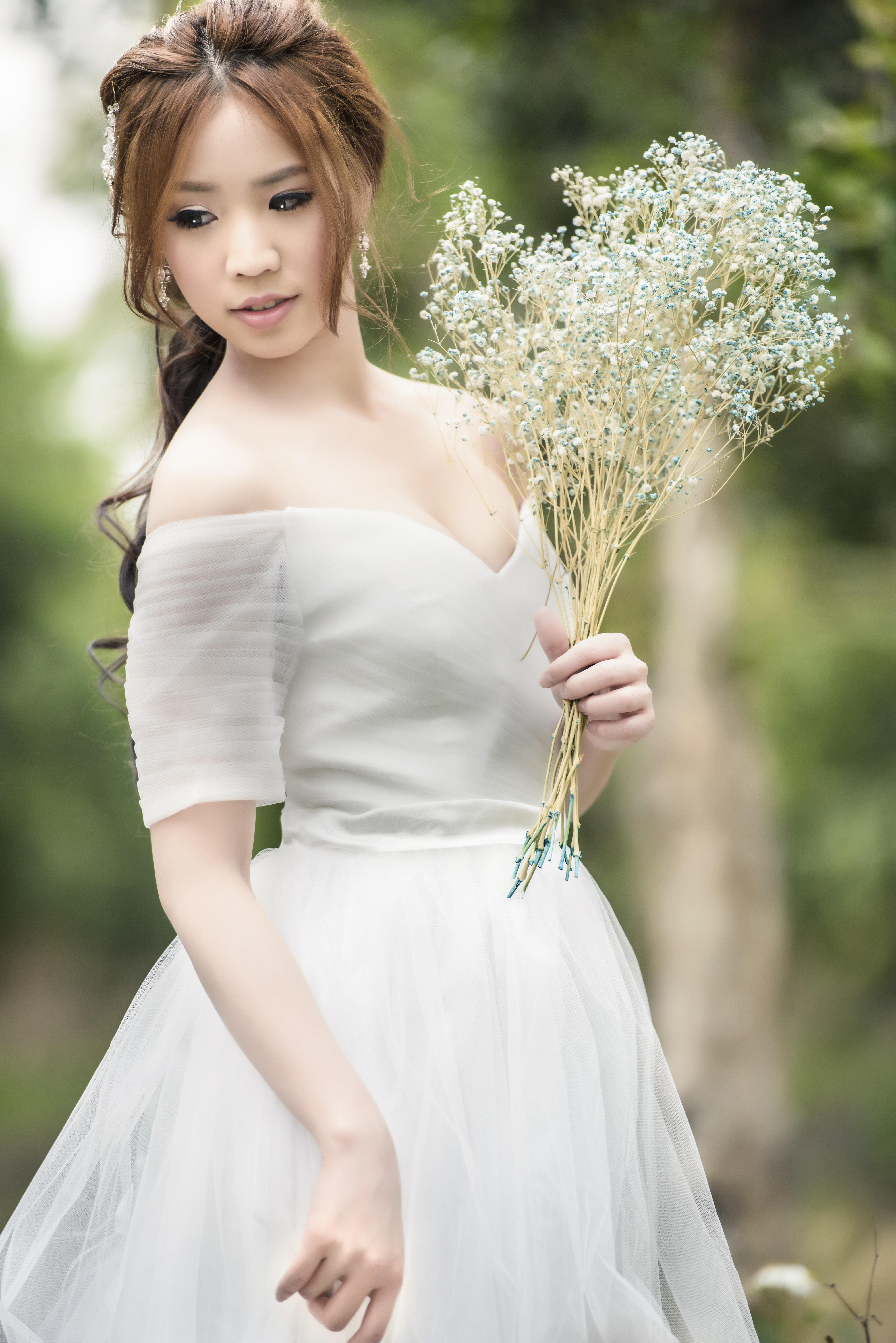 Kostenlose foto : Wald, Person, Frau, Blume, Herbst, Asien, Hochzeit ...