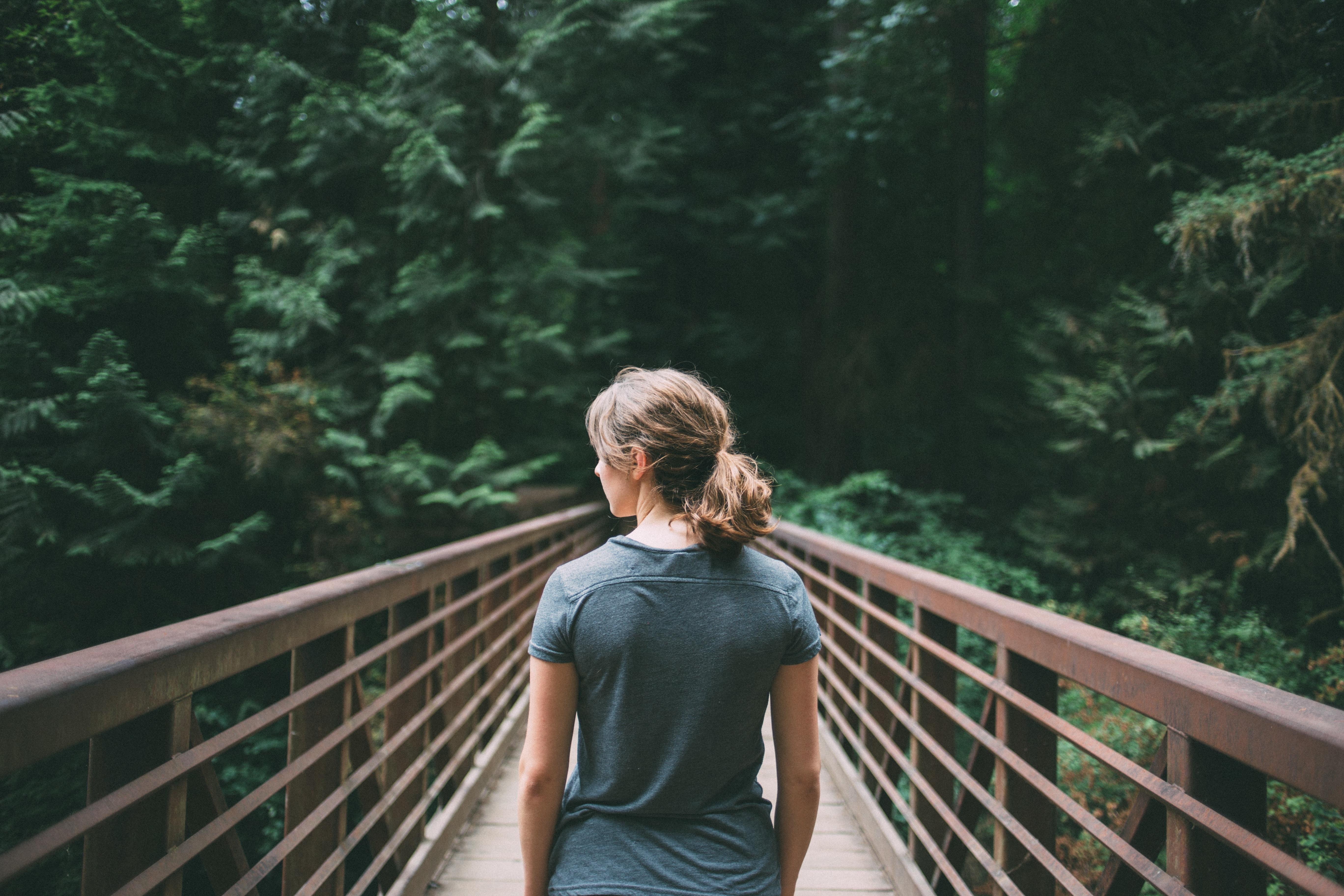 картинки на мосту человека серебристым или