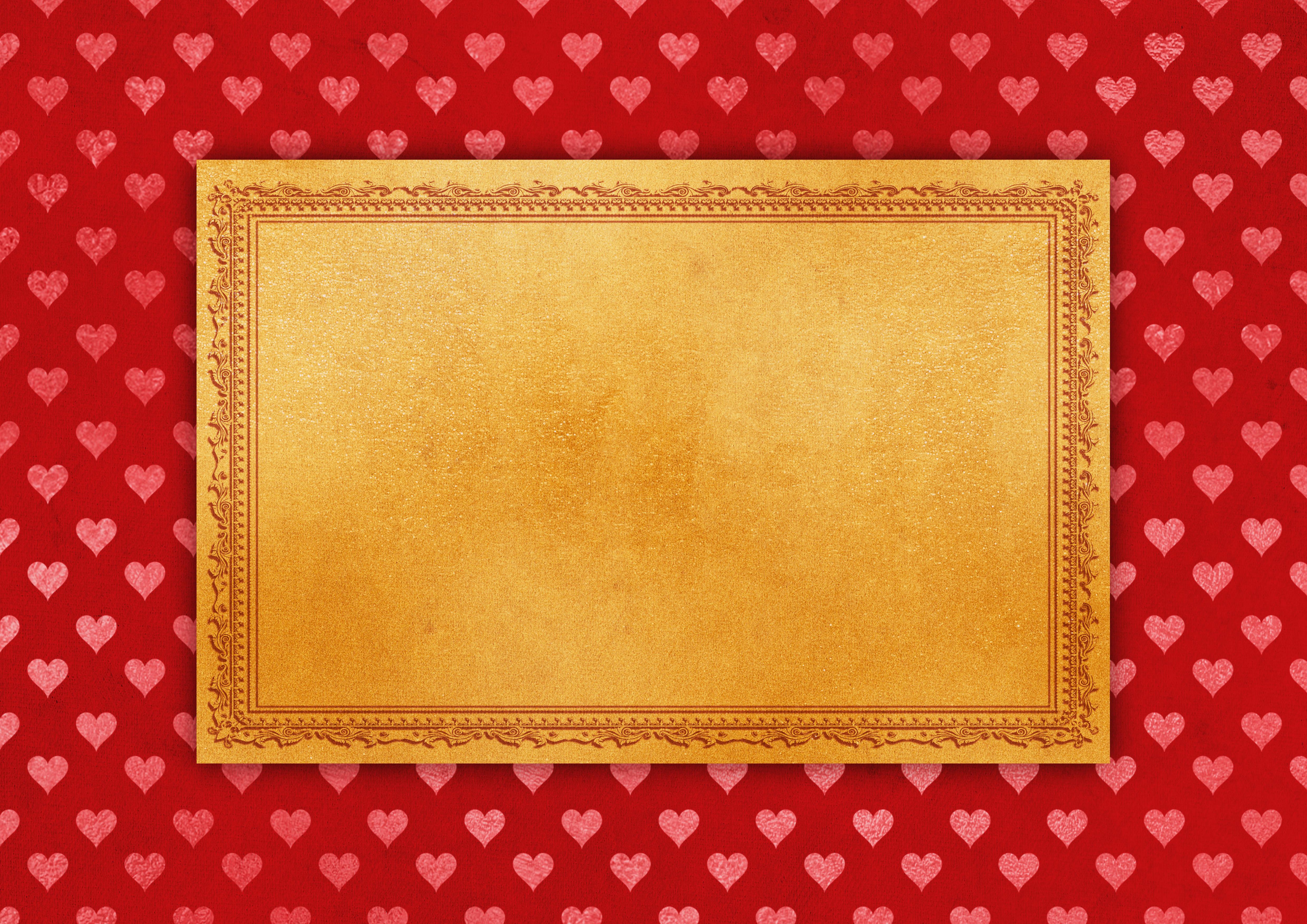 Poze Cadru Inimă Hârtie Fundal Decorativ Invitație Romantic