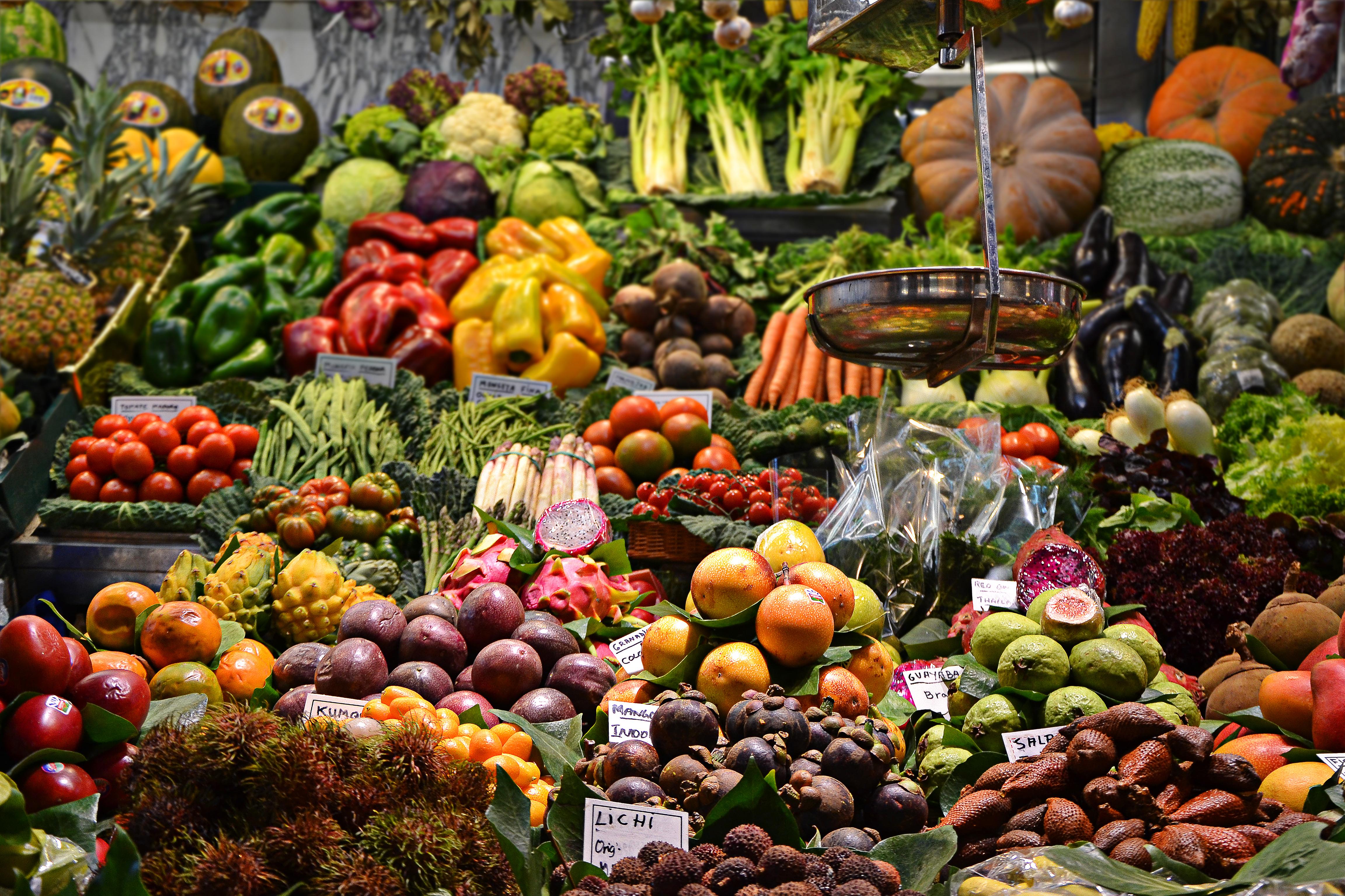 Free Images : fruit, flower, city, produce, autumn, market ...