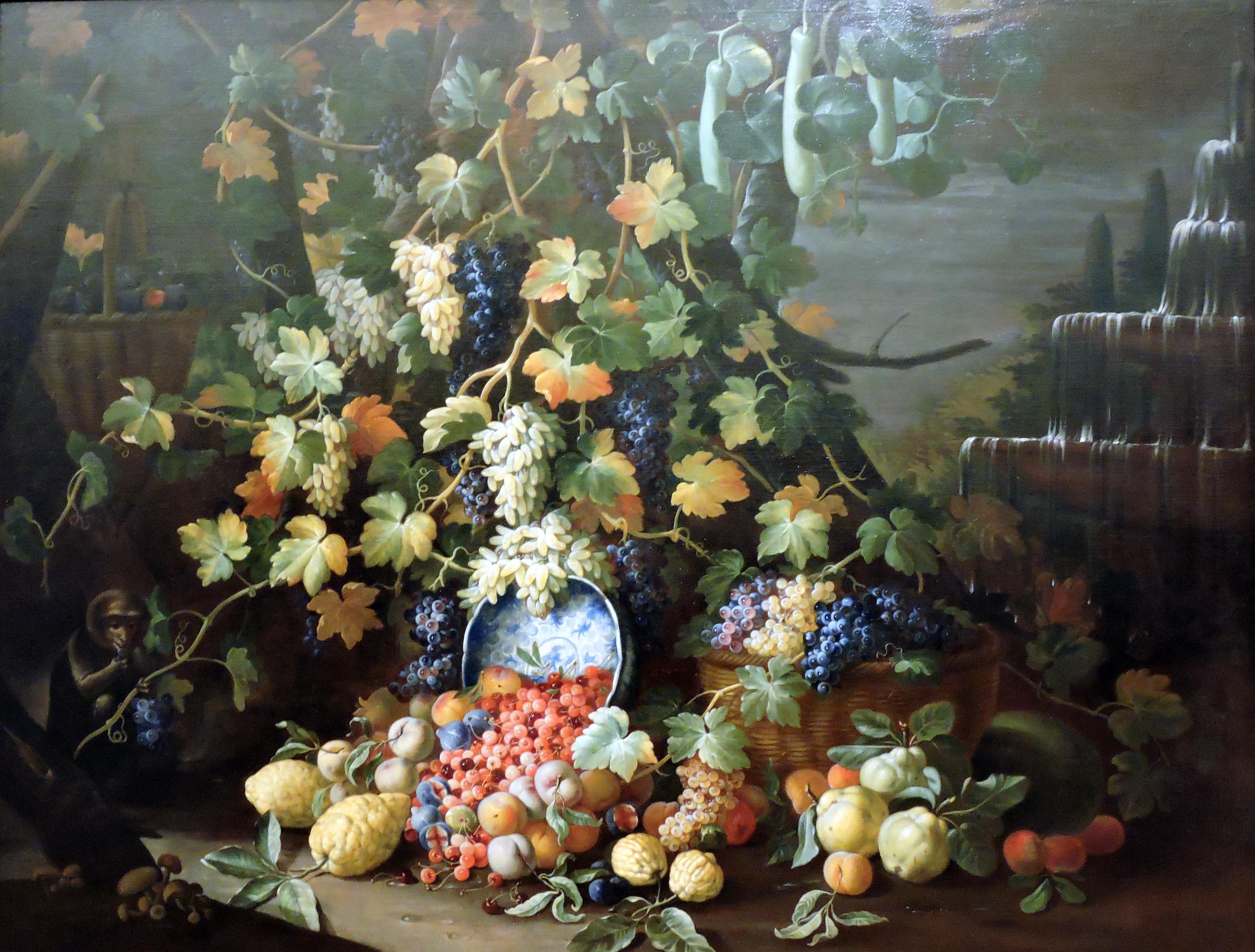 Kostenlose foto : Frucht, Blume, Affe, Flora, Kunstwerk, Malerei ...