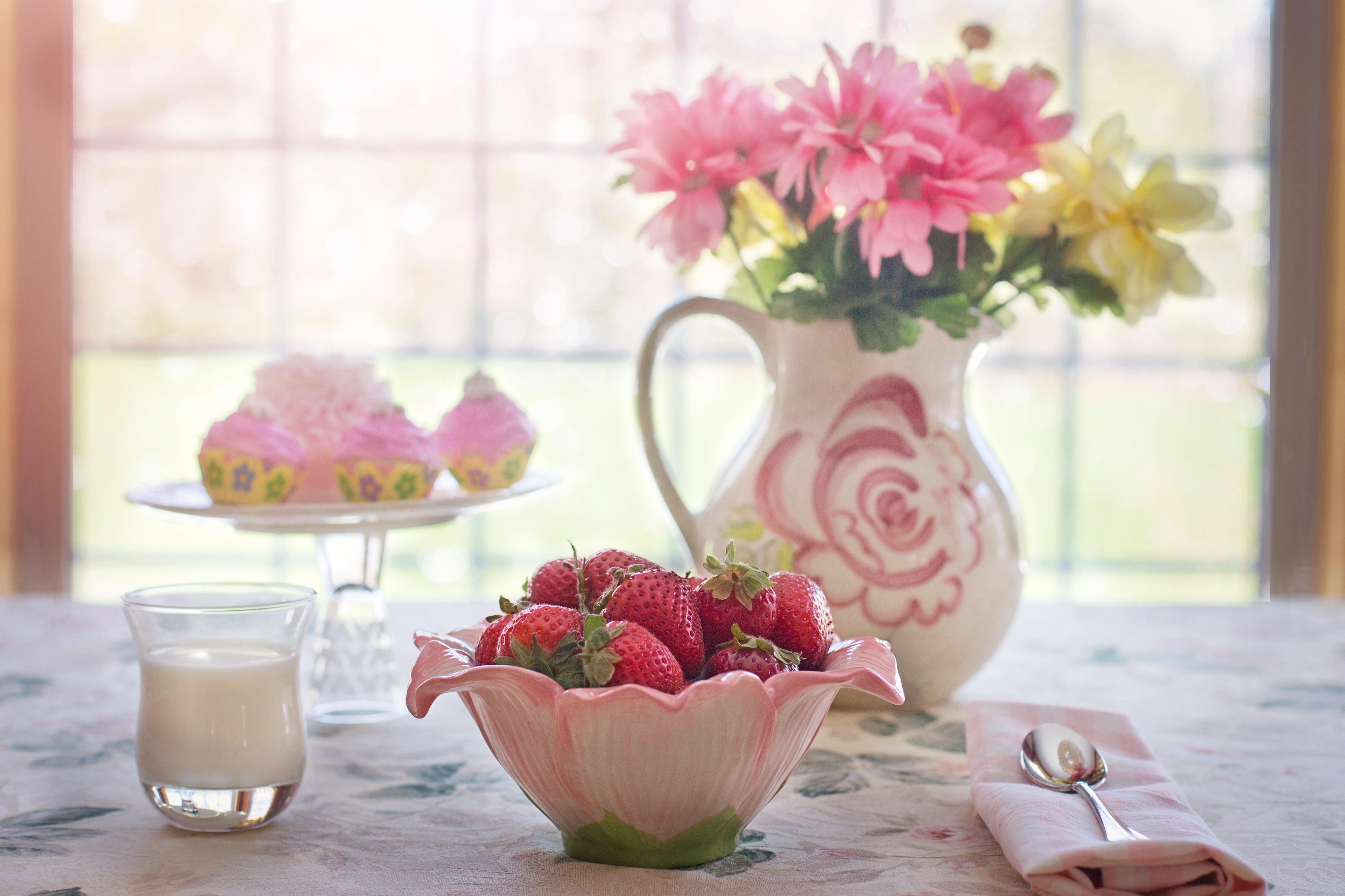 Цветы утро фрукты фото
