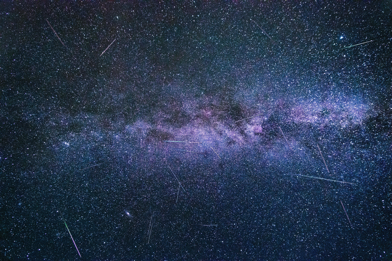 Gambar Suasana Galaksi Spiral Langit Objek Astronomi Alam