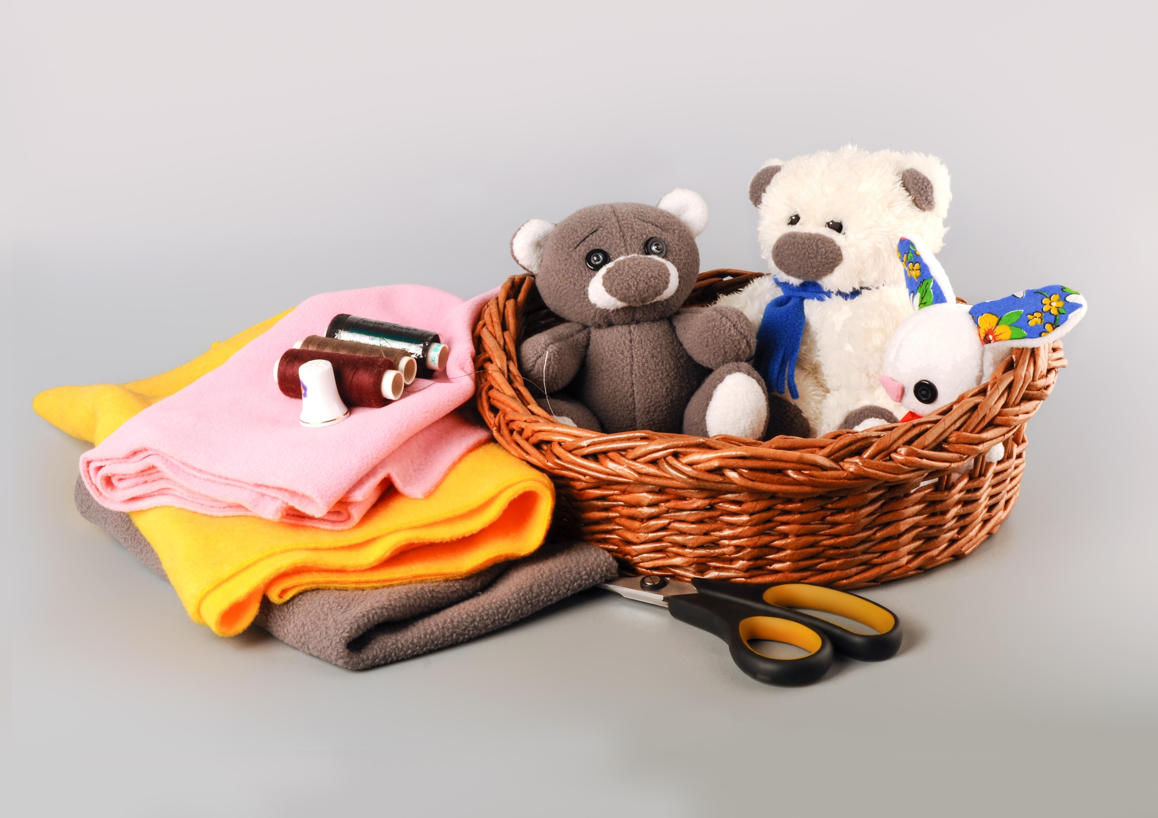 Kostenlose foto : Spiel, Bär, Korb, Spielzeug, Kindheit, Stoff ...