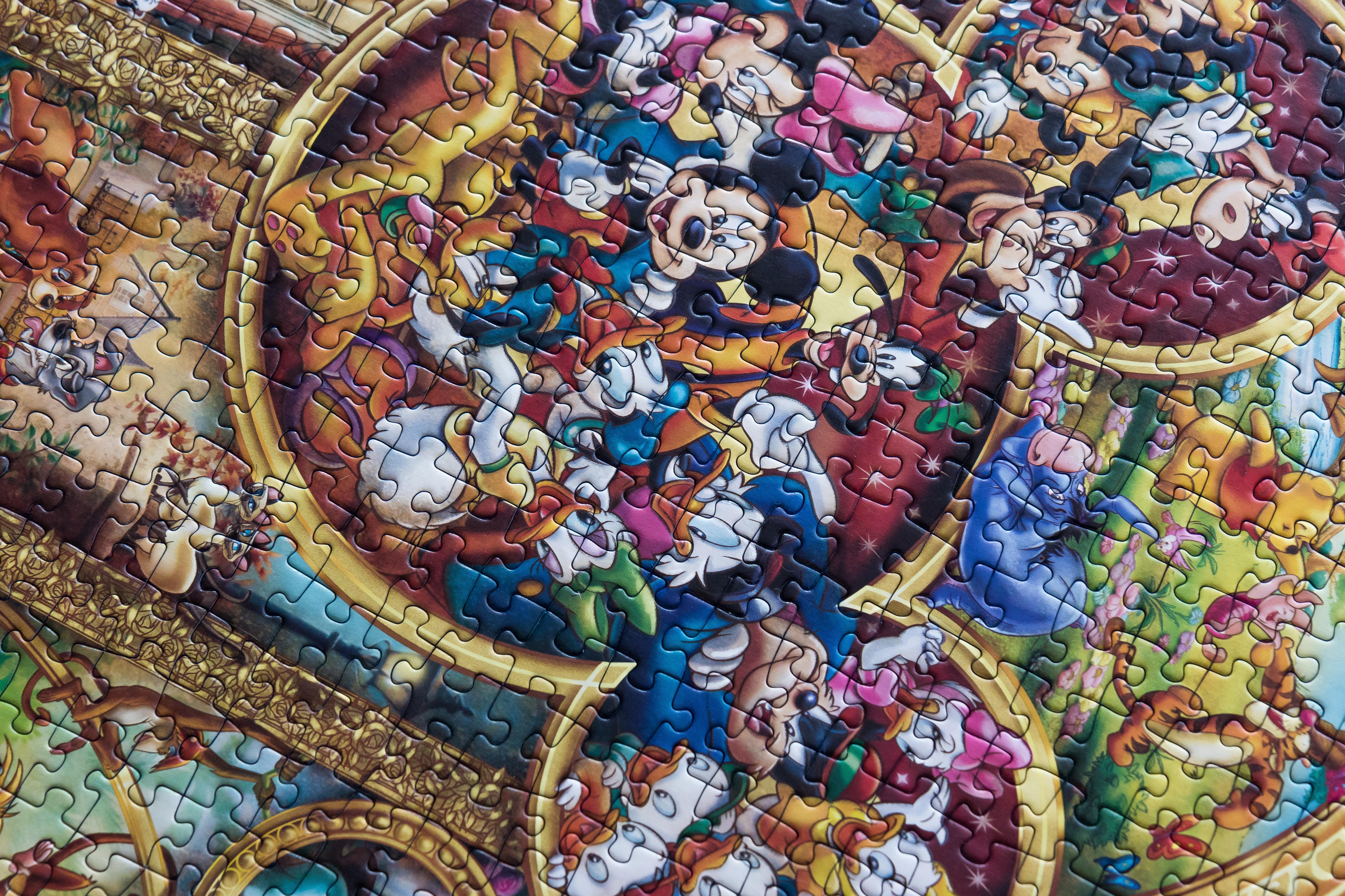 Gambar Permainan Pola Anak Disney Kesenangan Mosaik Lukisan
