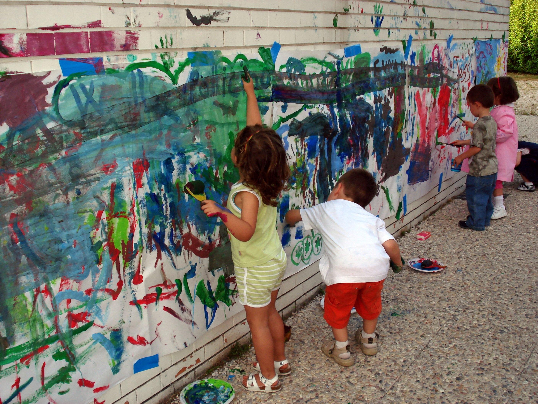 Fotoğraf şehir Boyama Halka Açık Alan Sanat çocuklar Renkler