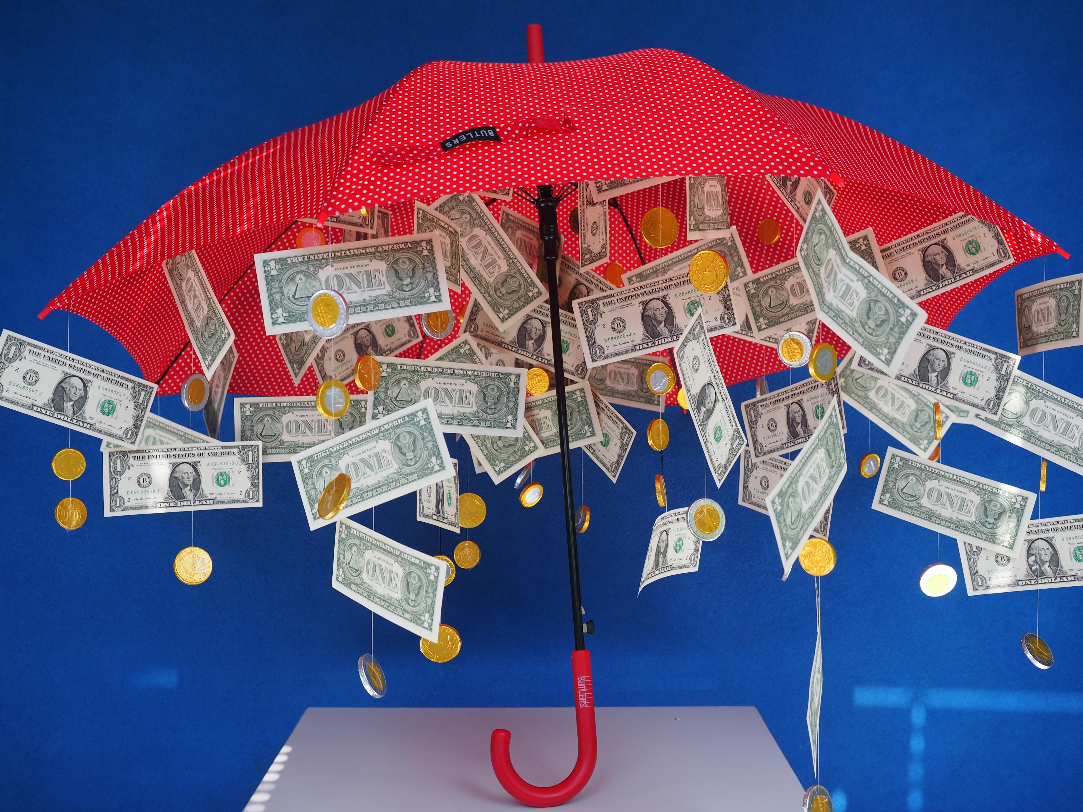 Подарки зонт с деньгами