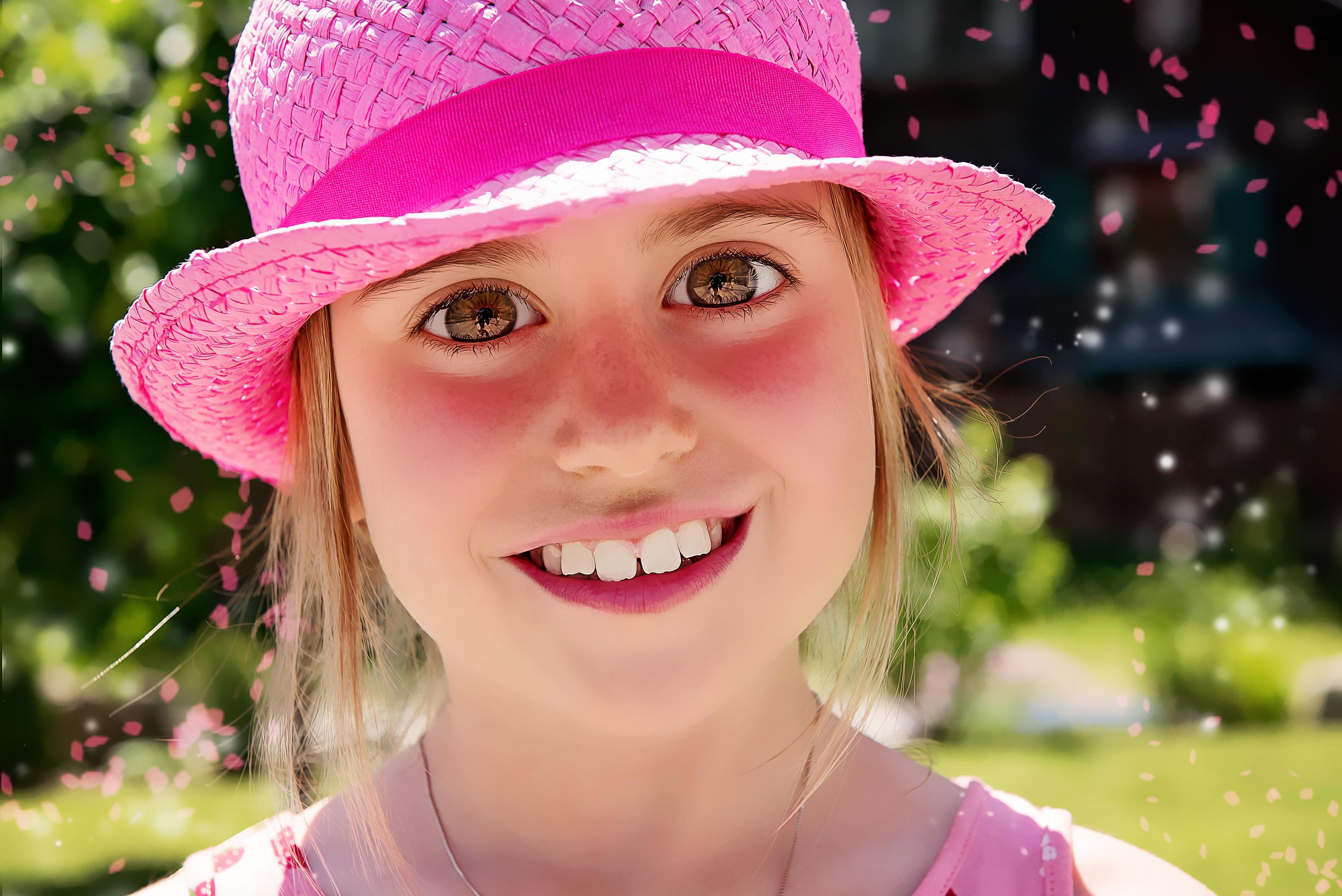 Gambar Gadis Bunga Potret Musim Semi Warna Anak Manusia