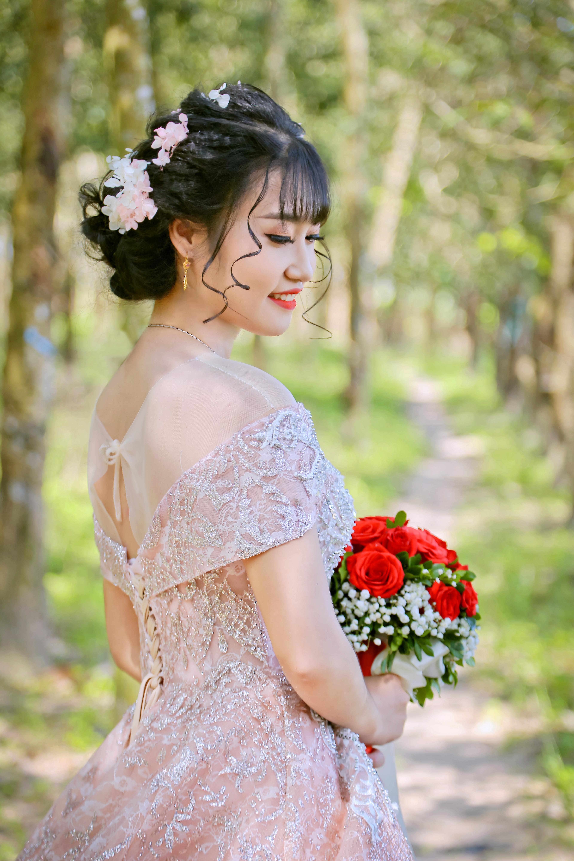 Kostenlose Foto Mädchen Haar Braut Foto Kleid
