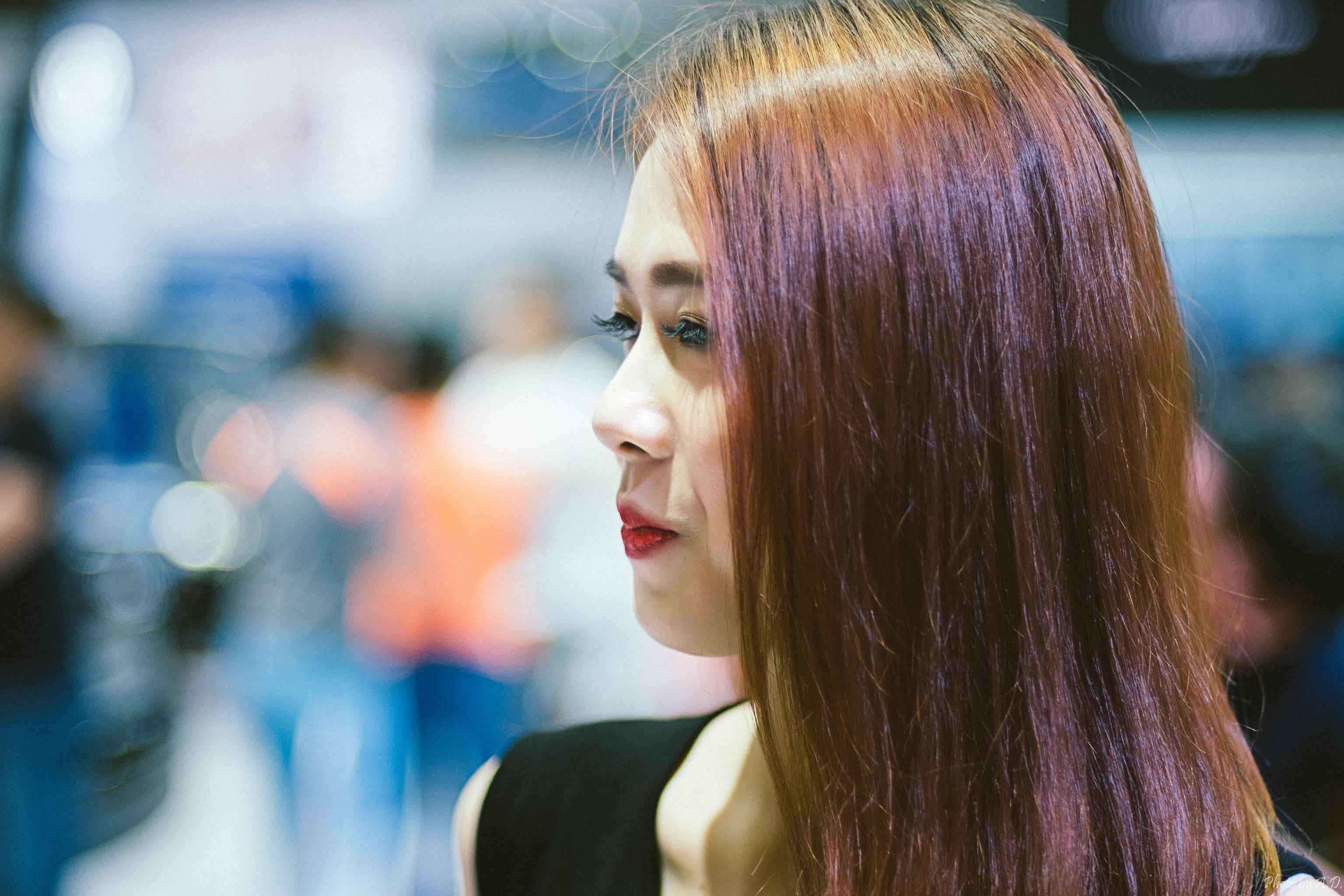 Kostenlose Foto Madchen Haar Farbe Blau Frisur Lange Haare