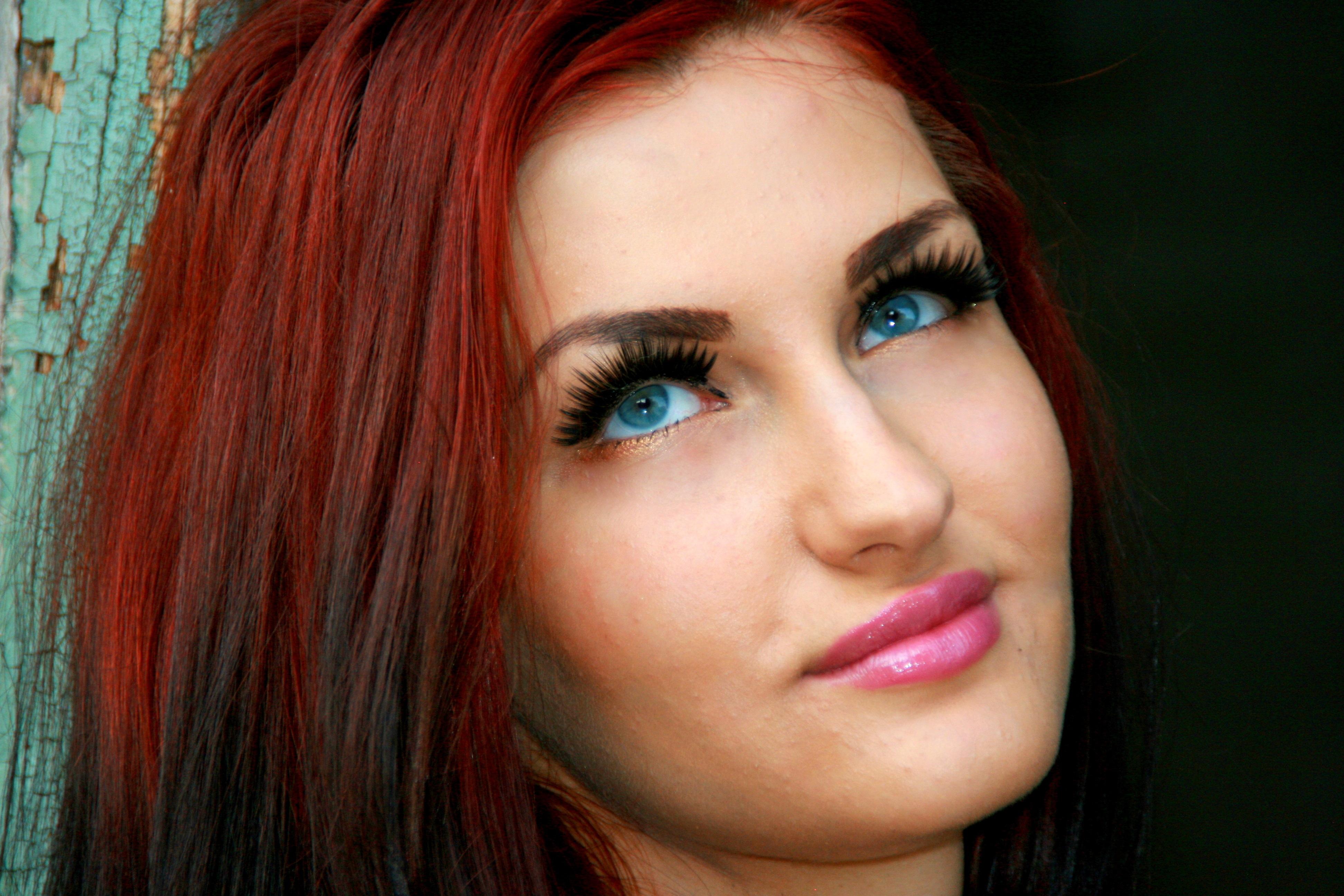 Populaire Images Gratuites : fille, maquette, rouge, mode, bleu, Dame, lèvre  XF22