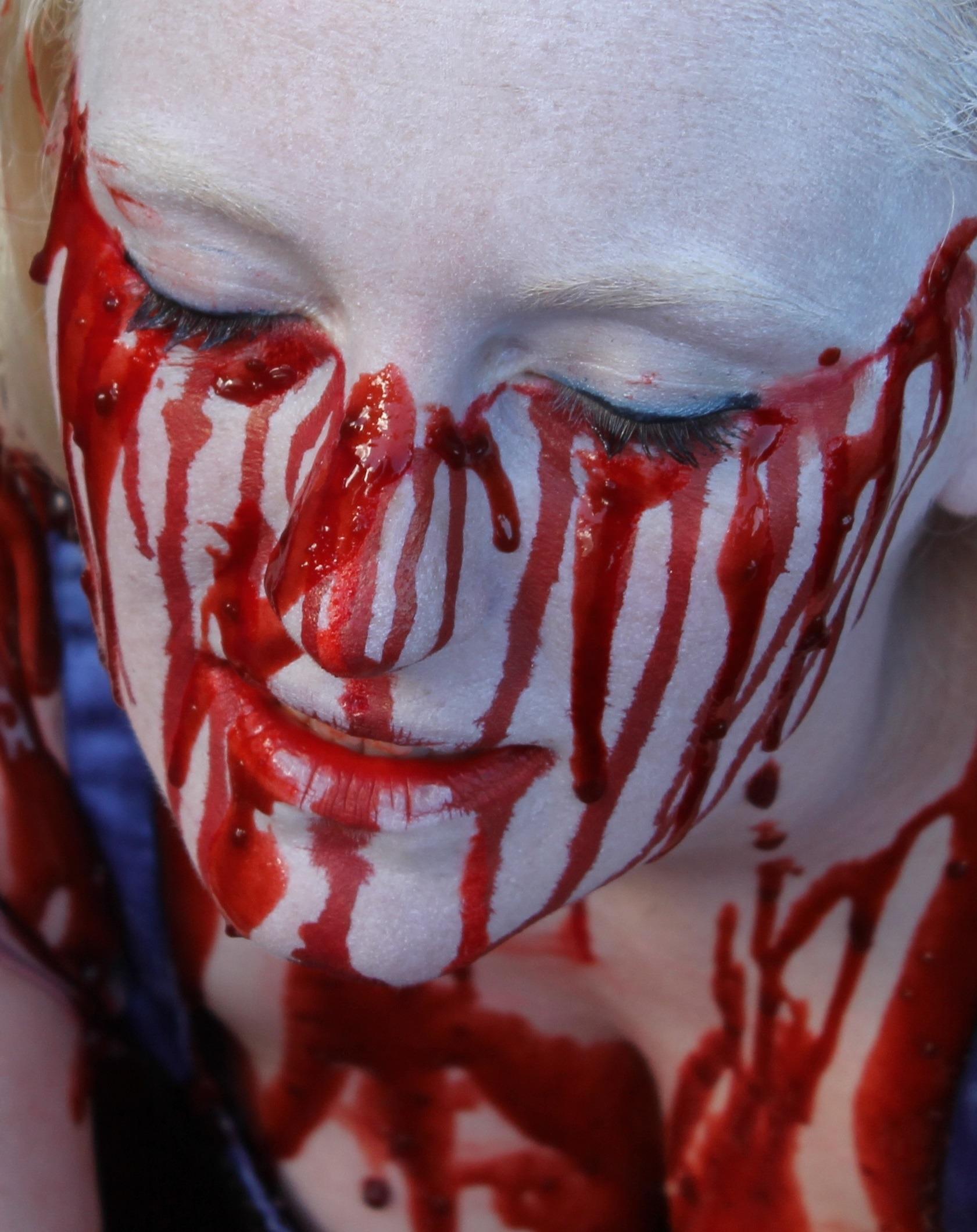 Immagini Belle : ragazza, rosso, colore, Halloween, labbro