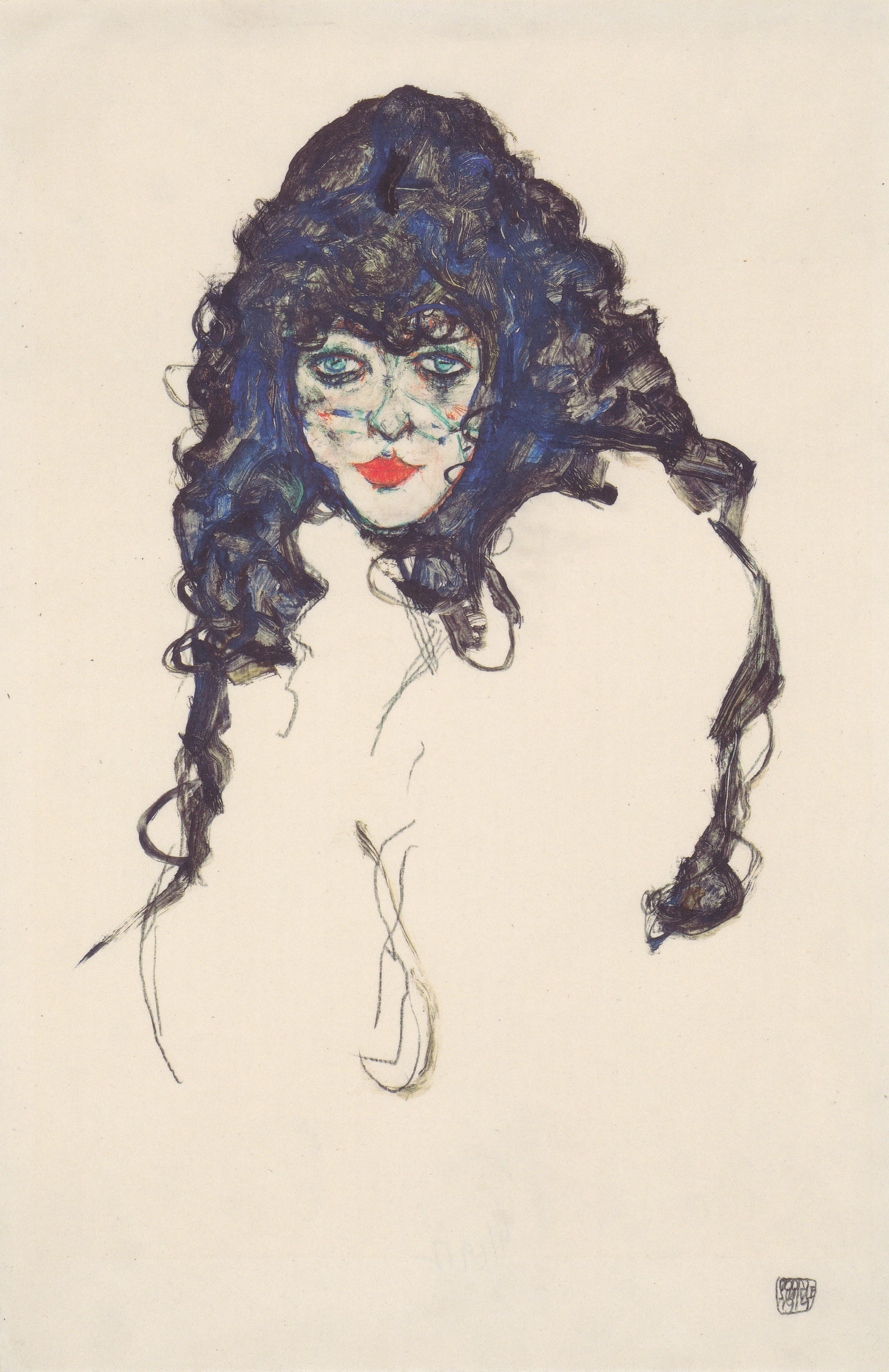 Fotoğraf Kız Kadın Portre Resim Boyama Avusturya Sanat