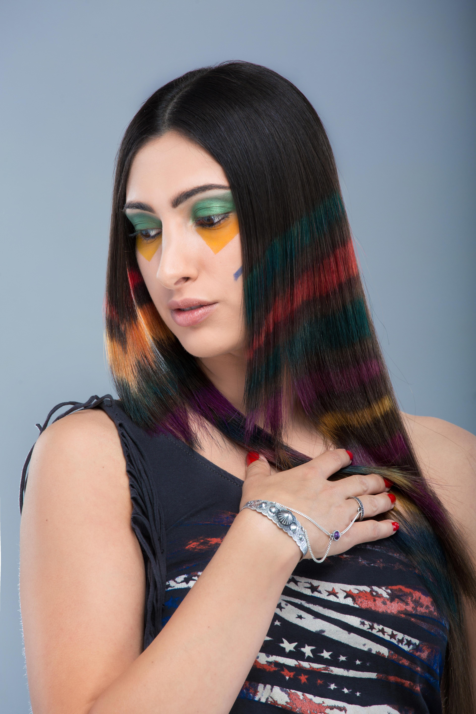 Cortes de cabello largo en color negro