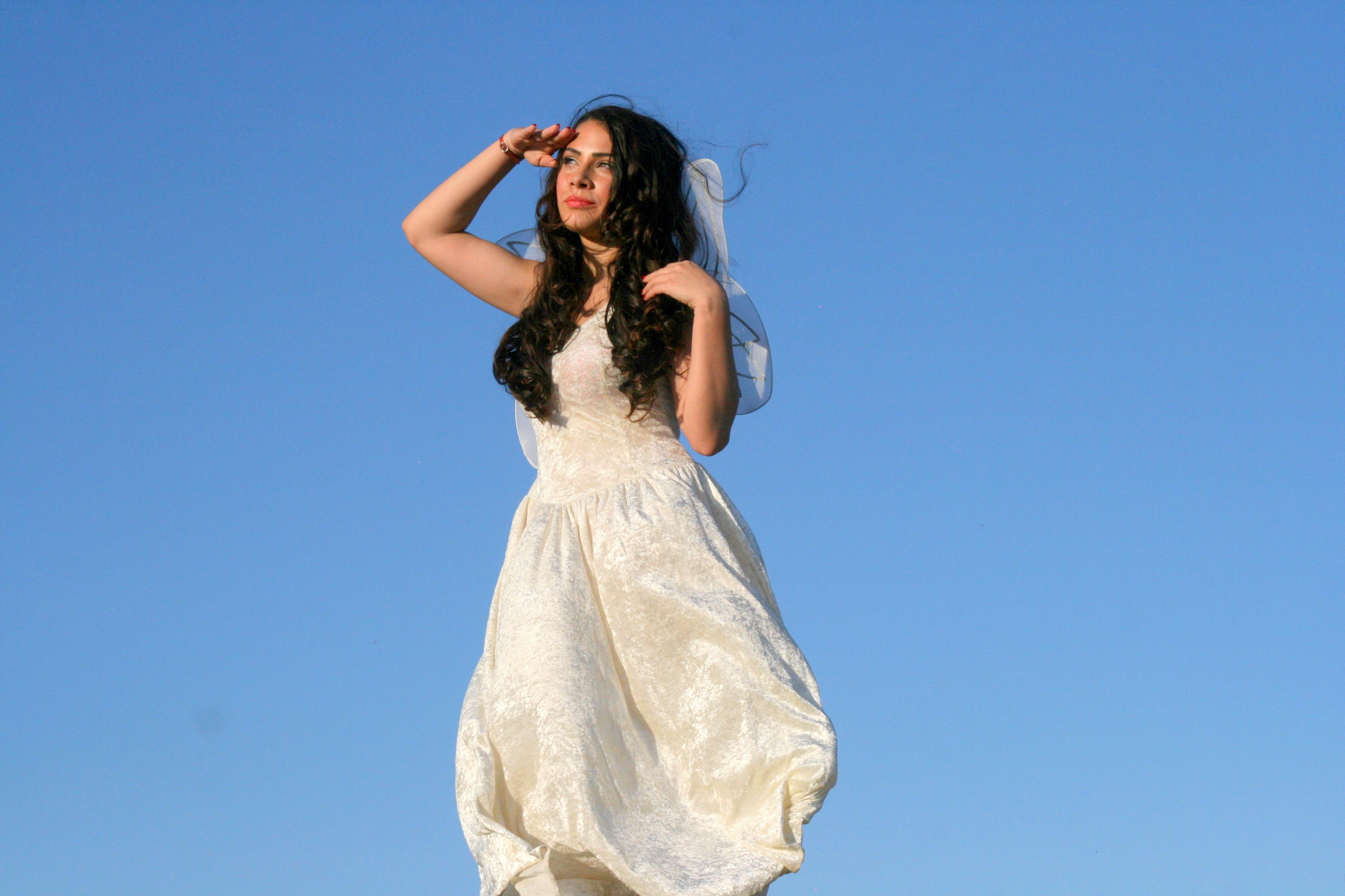 Fotos gratis : niña, mujer, modelo, primavera, ropa, vestido de ...